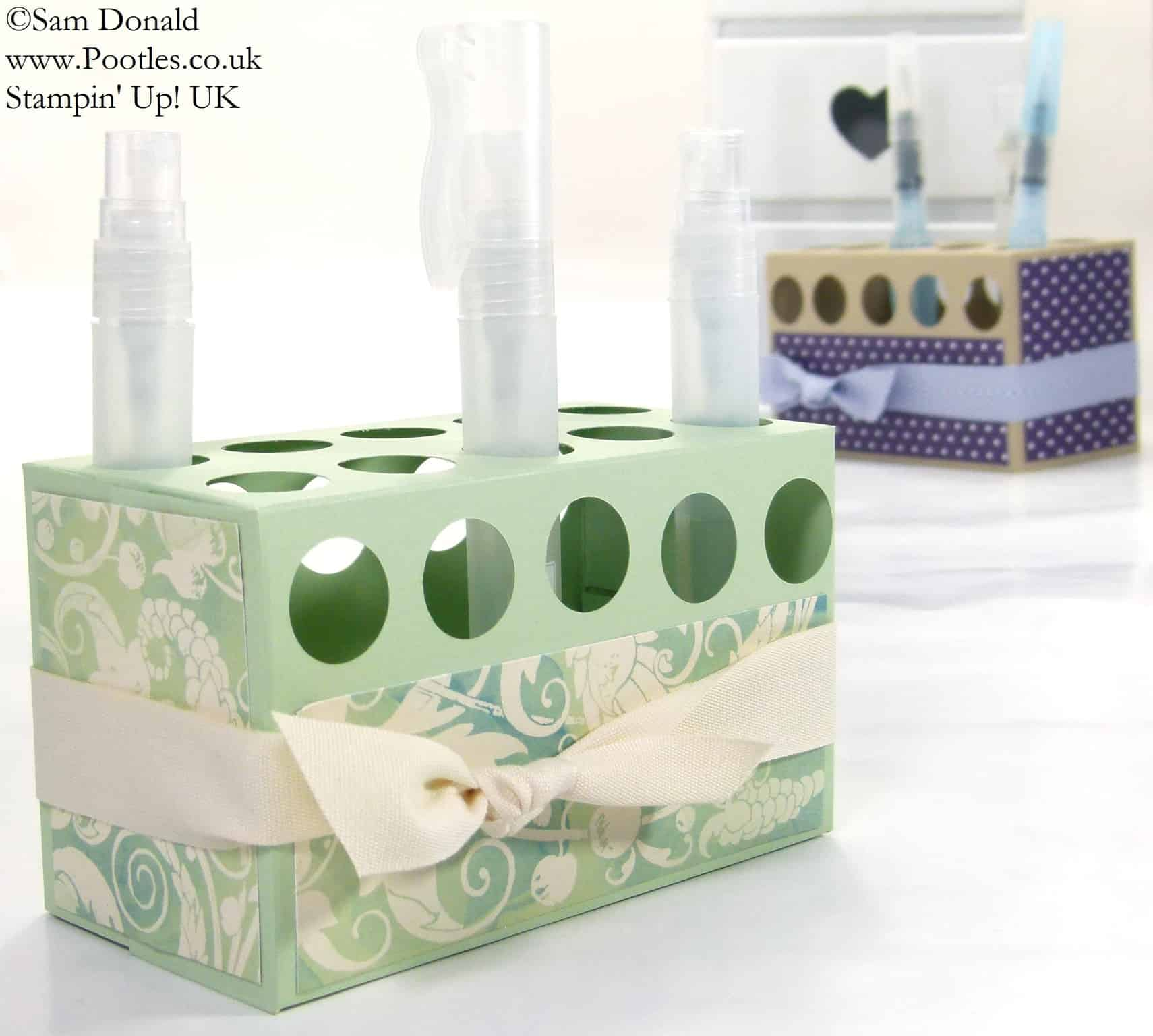 POOTLES Stampin' Up! UK Stampin' Spritzer Holder Tutorial 3