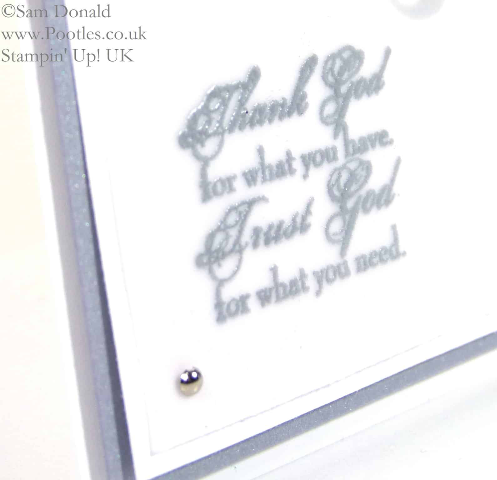 POOTLES Stampin' Up! UK Trust God For What You Need