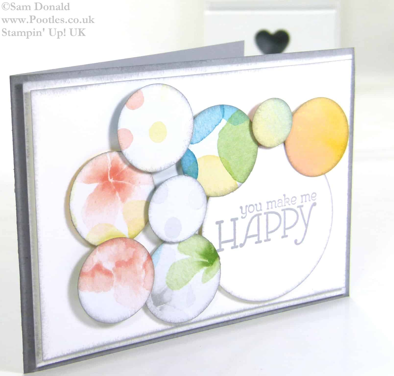 POOTLES Stampin' Up! UK Watercolour Wonder You Make Me Happy 2