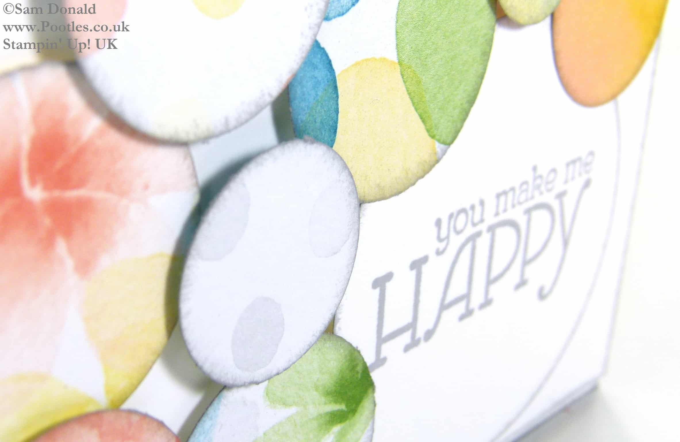 POOTLES Stampin' Up! UK Watercolour Wonder You Make Me Happy