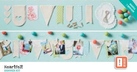 Sale a Bration Heartfelt Banner Kit
