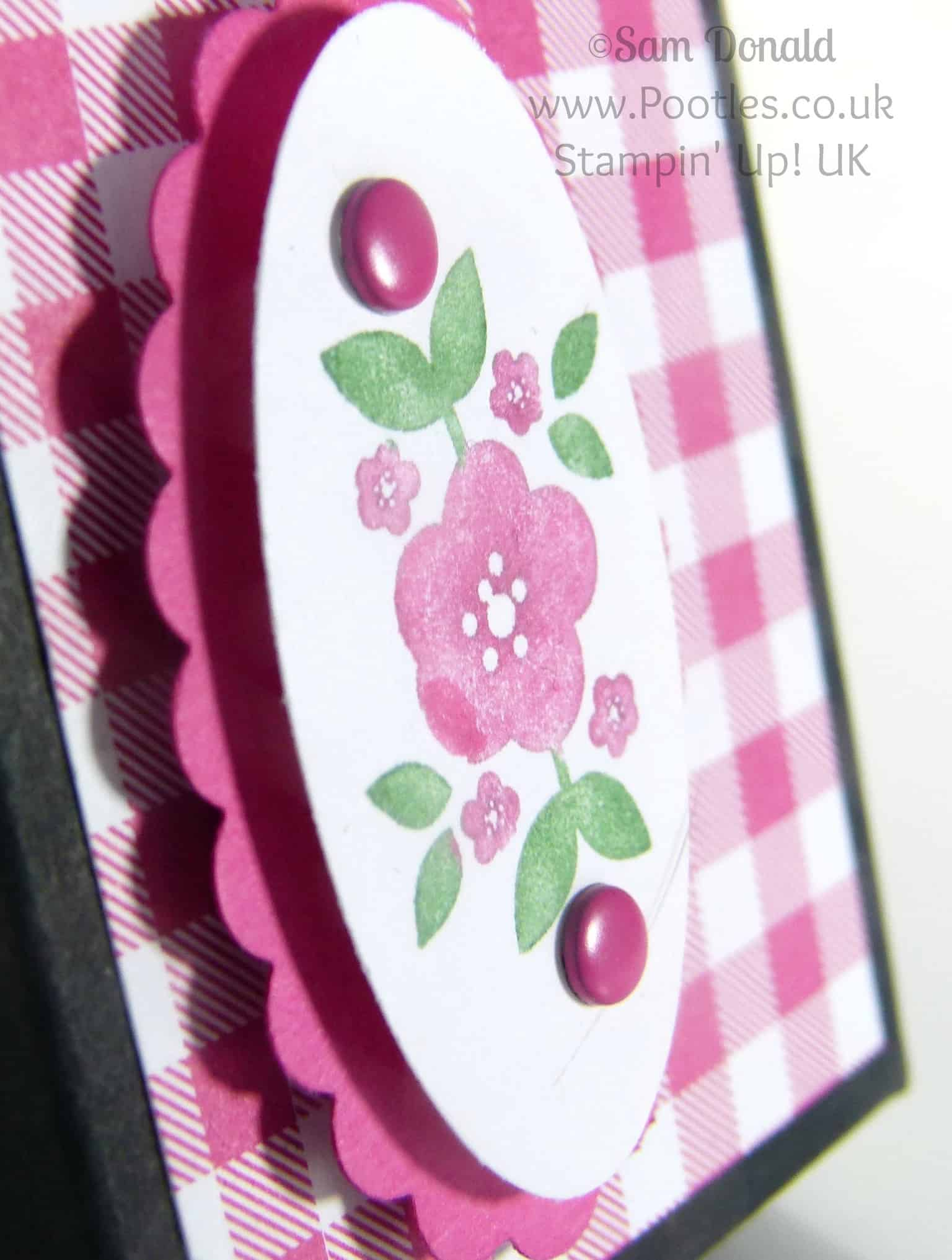 POOTLES Stampin' Up! UK Bright Bold Fold Flat Box Tutorial close up