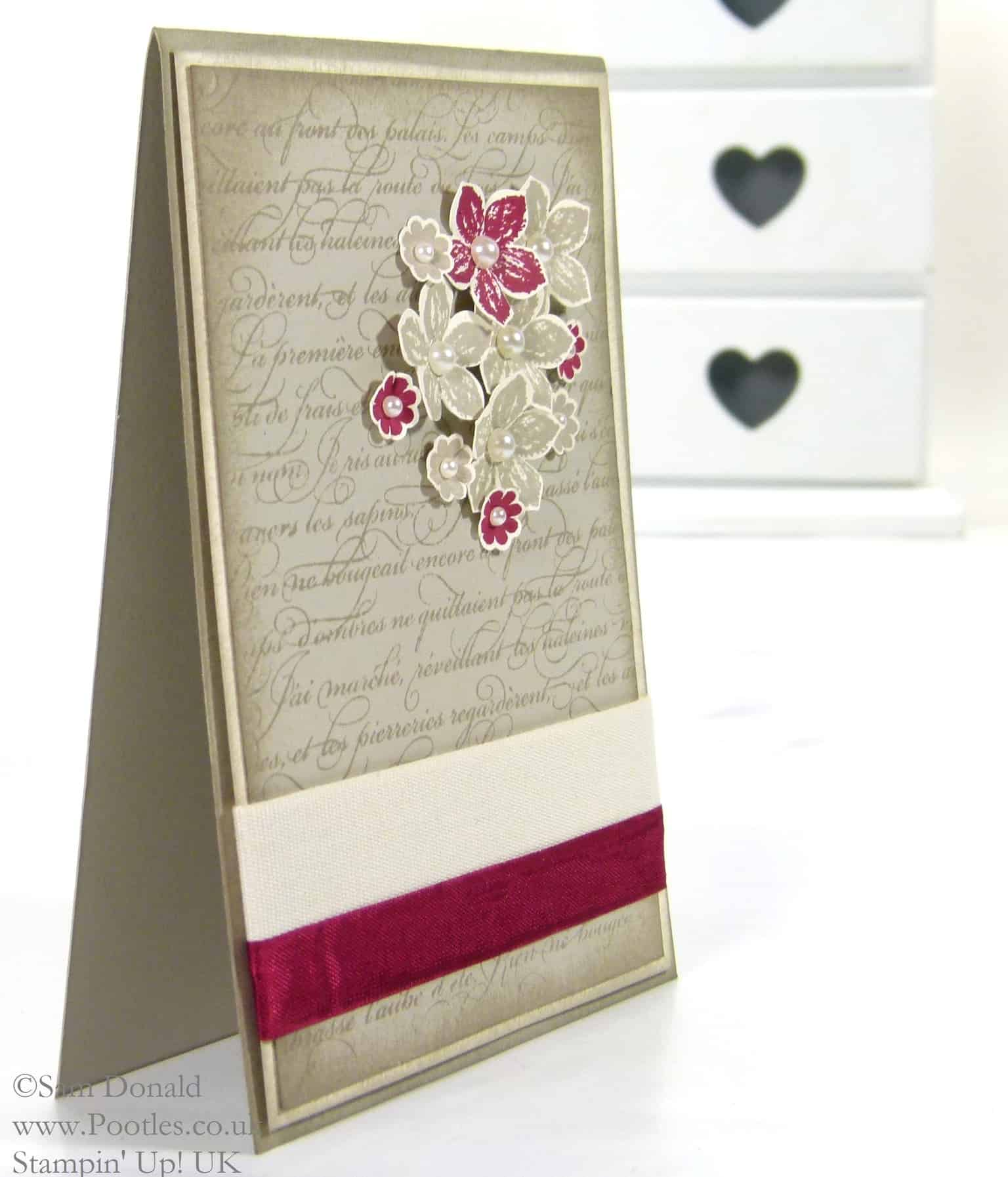 POOTLES Stampin' Up! UK En Francais meets Petite Petals