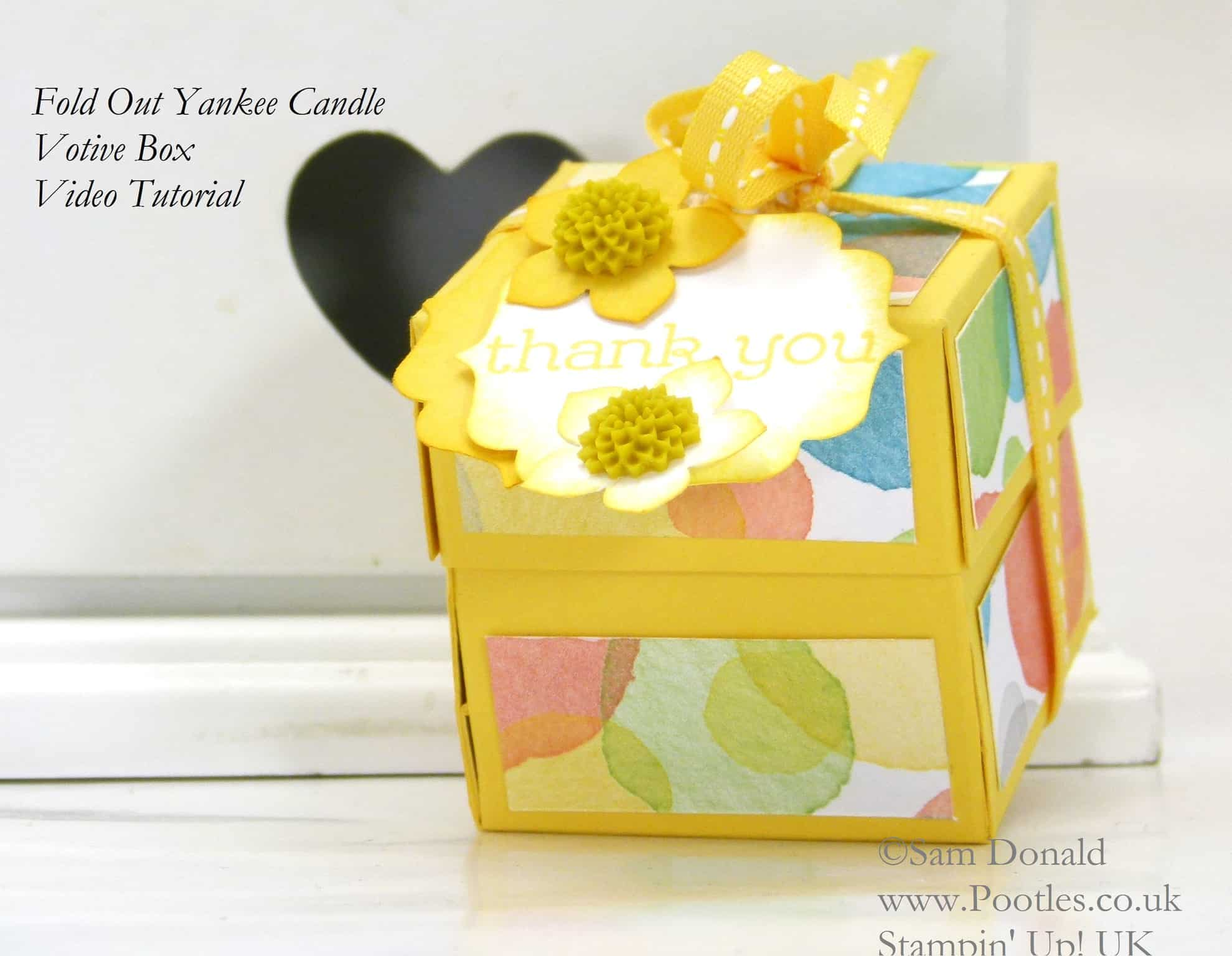 POOTLES Stampin' Up! UK Fold Out Votive Candle Holder Tutorial Watercolour Wonder