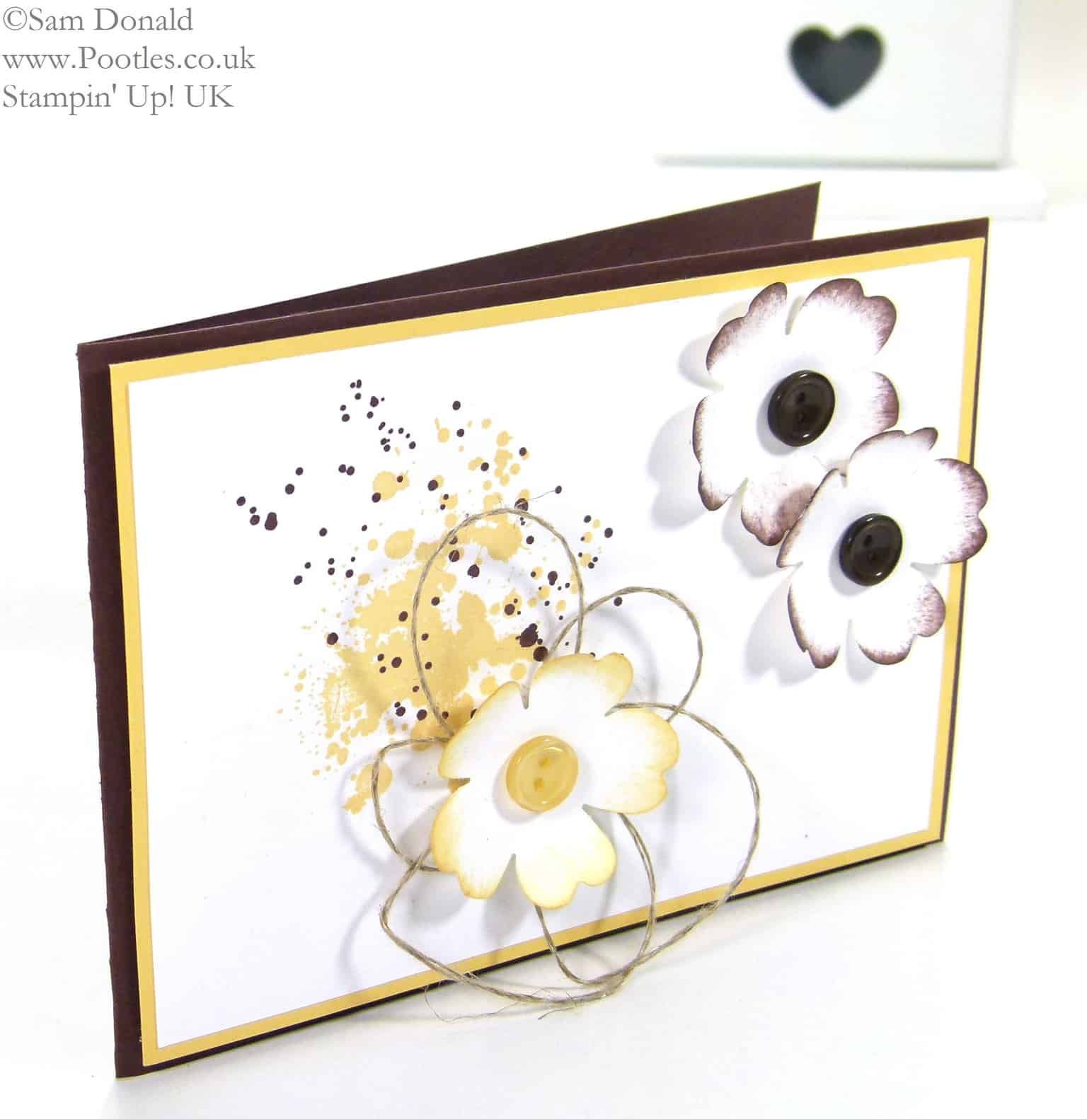 POOTLES Stampin' Up! UK Gorgeous Pansy Button Grunge