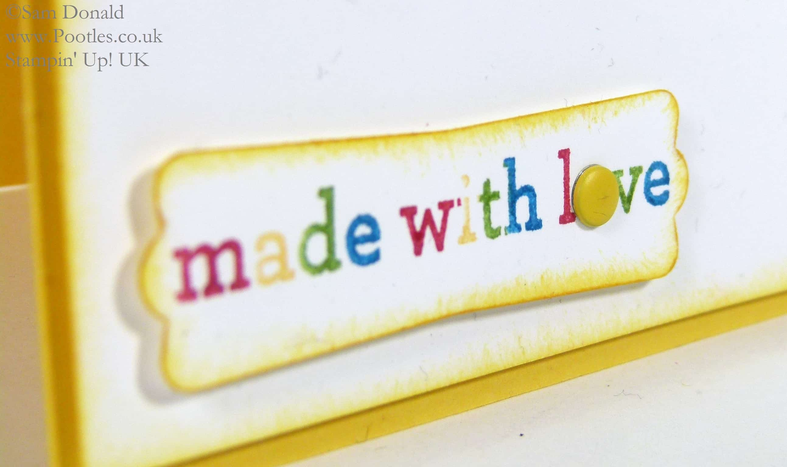 POOTLES Stampin' Up! UK Kind & Cosy is Made with Love Marker Detail