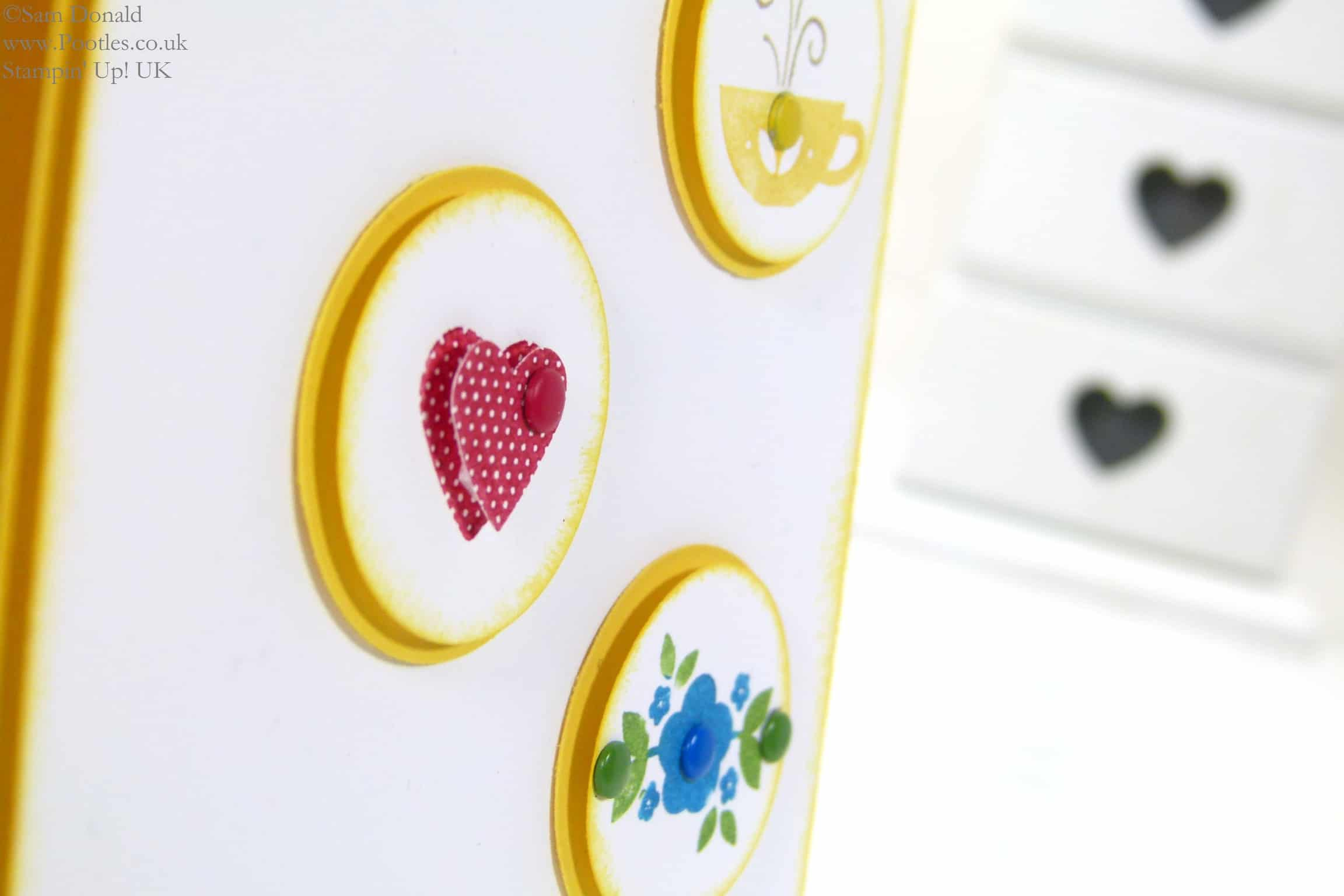 POOTLES Stampin' Up! UK Kind & Cosy is Made with Love Punch Detail