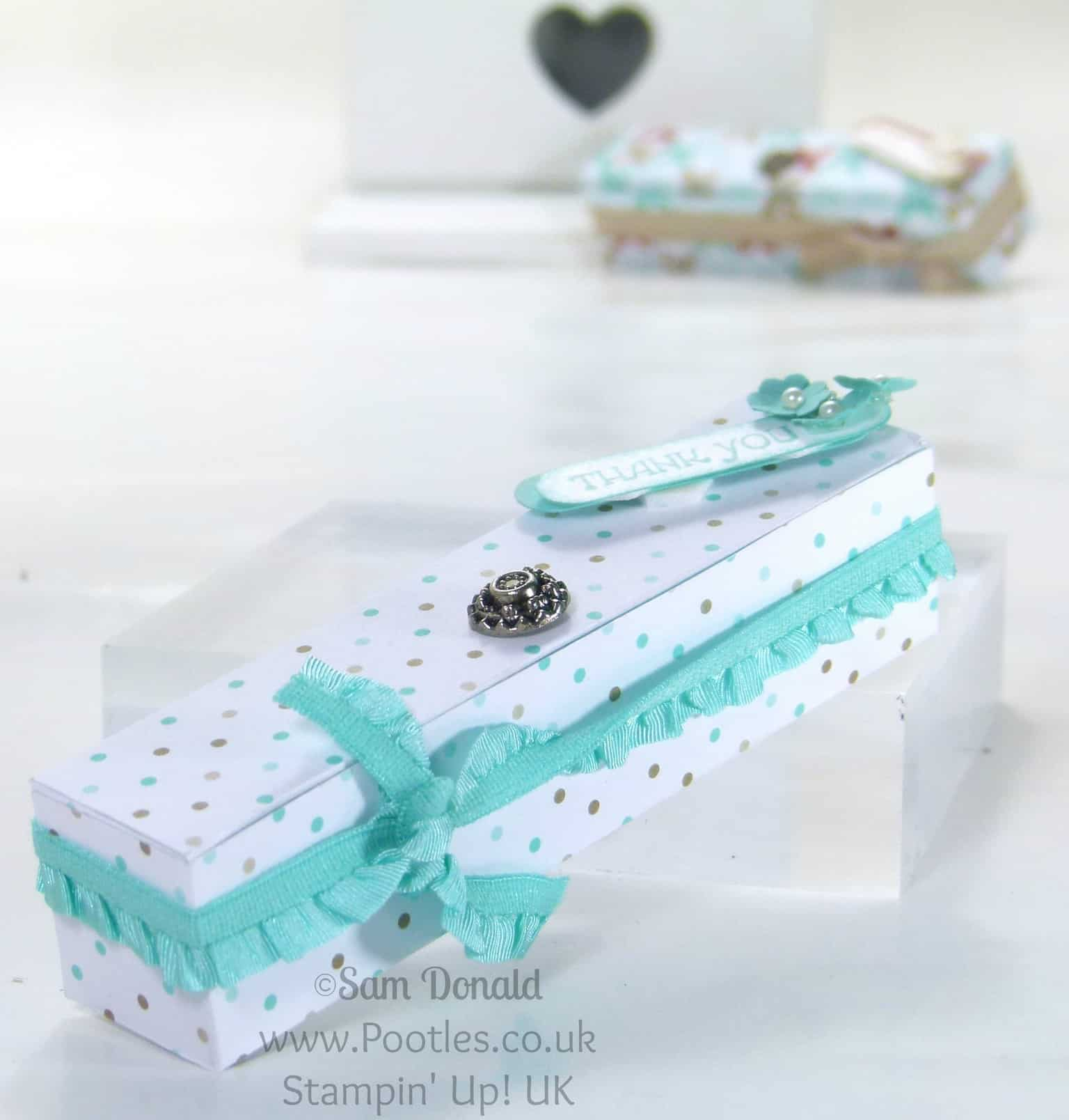 POOTLES Stampin' Up! UK Paper box with built in sides tutorial