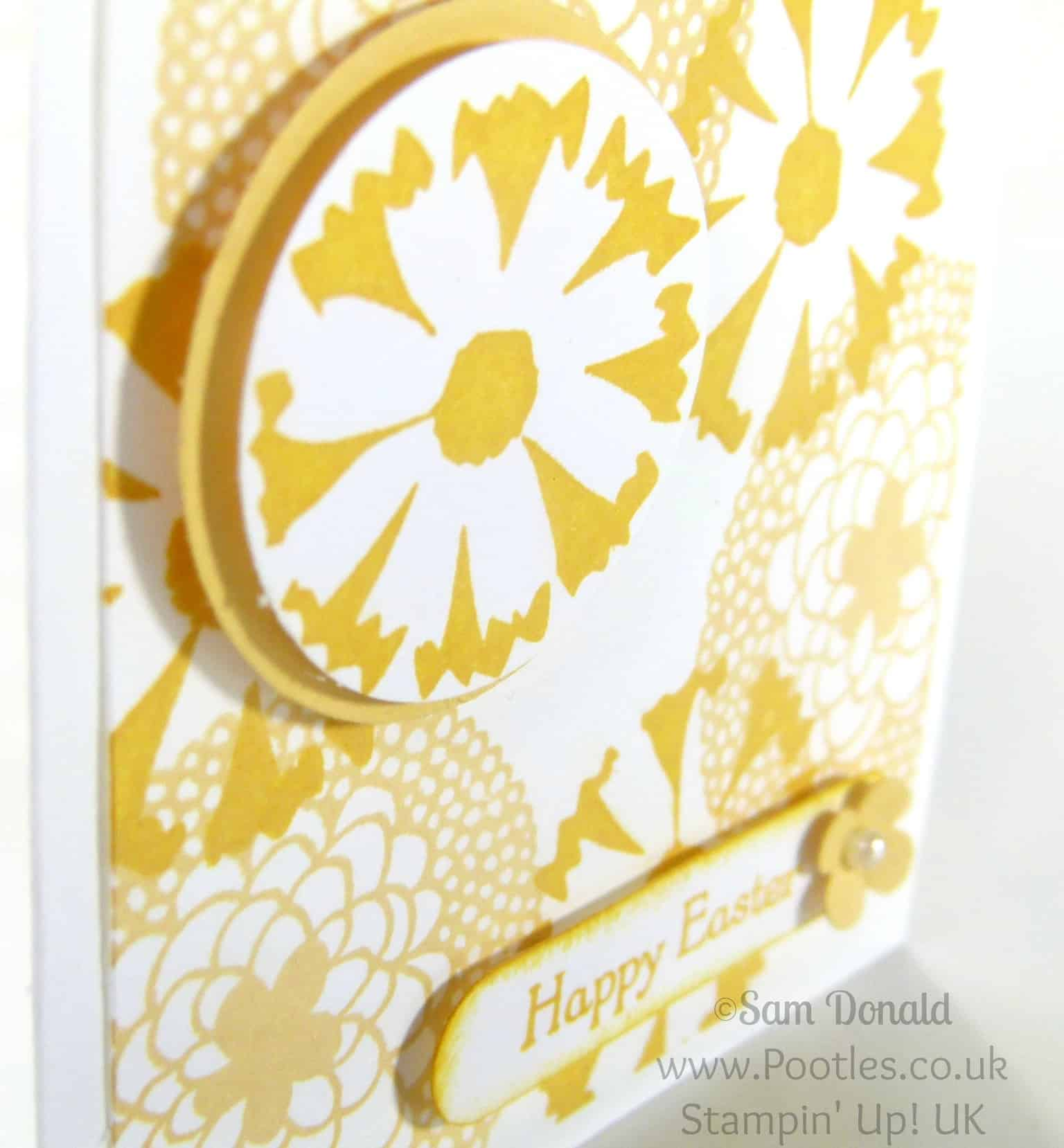 POOTLES Stampin' Up! UK Petal Parade 3x3 Easter Card Showcase Close Up