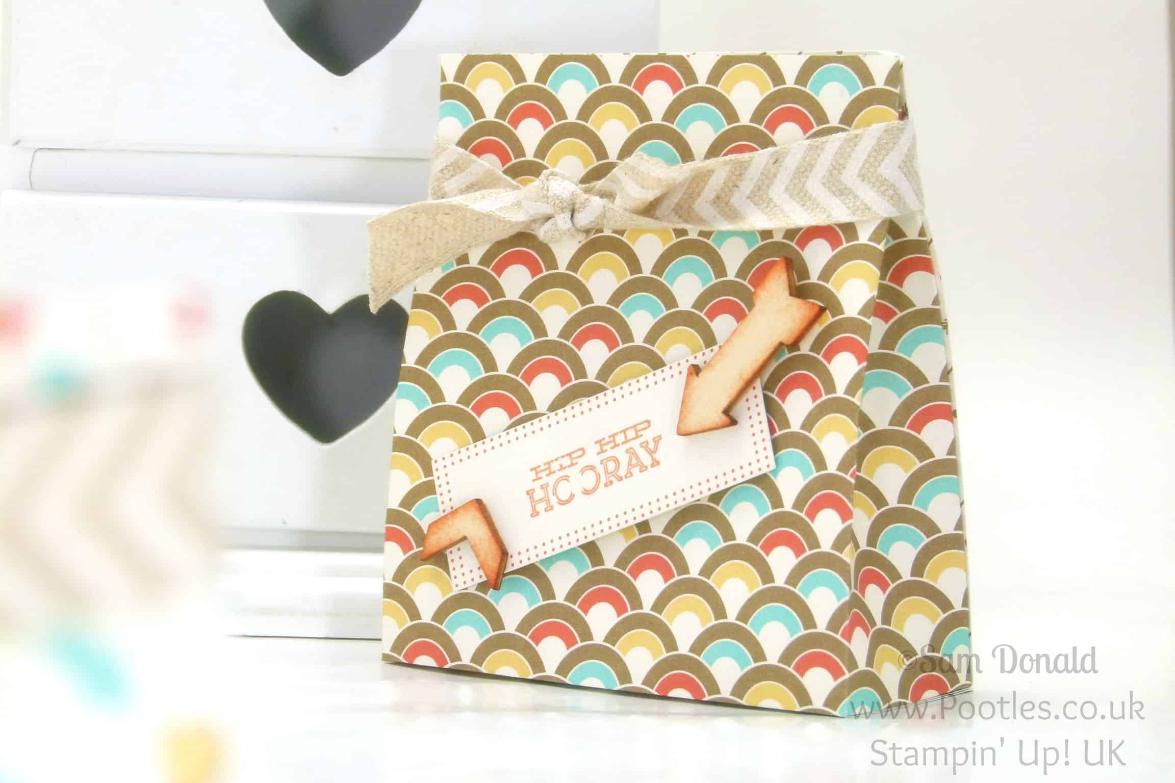 POOTLES Stampin' Up! UK Retro Fresh Bag Tutorial single bag