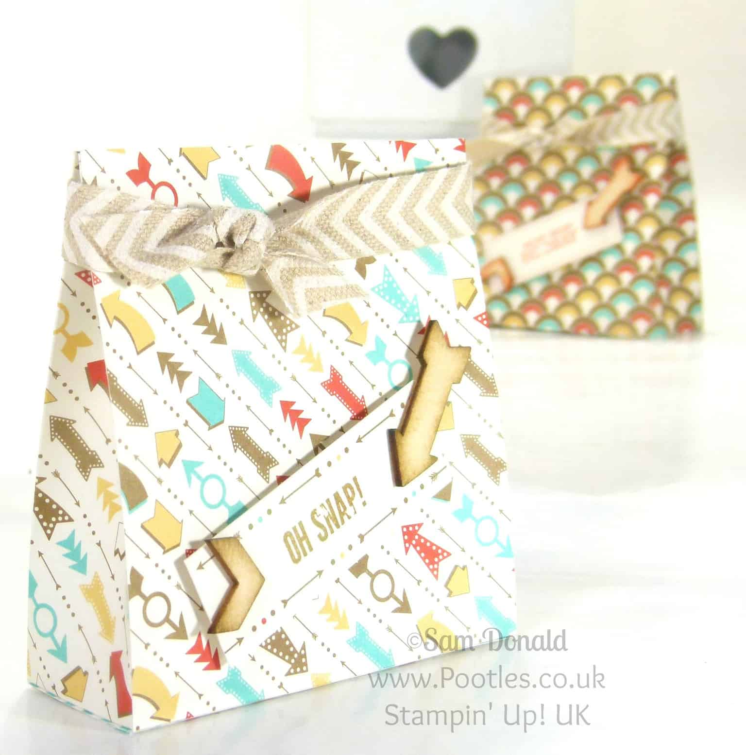 POOTLES Stampin' Up! UK Retro Fresh Bag Tutorial