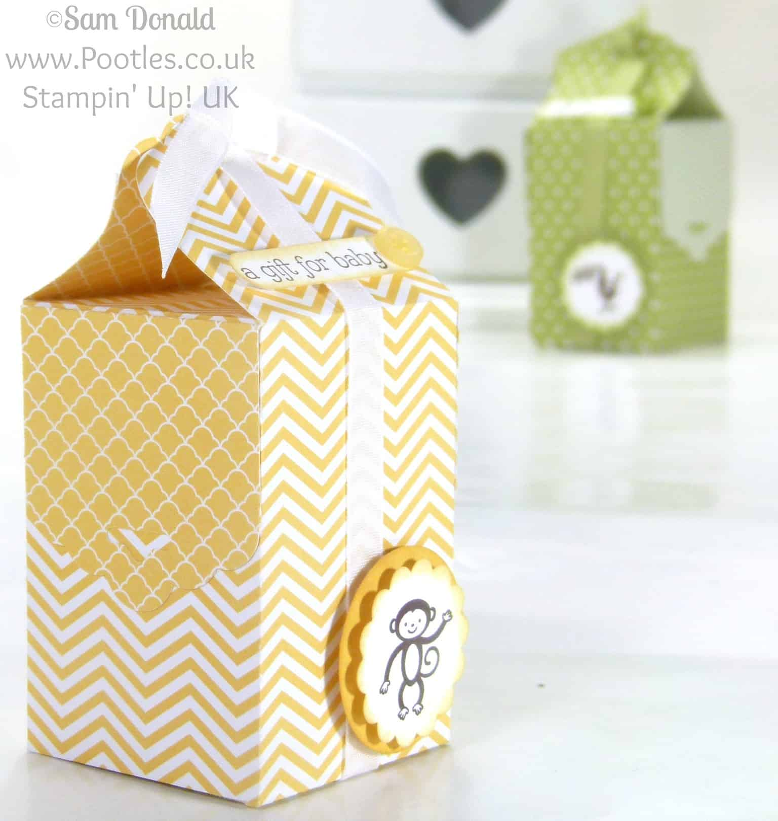 POOTLES Stampin' Up! UK Tag Topper Baby Bag Tutorial