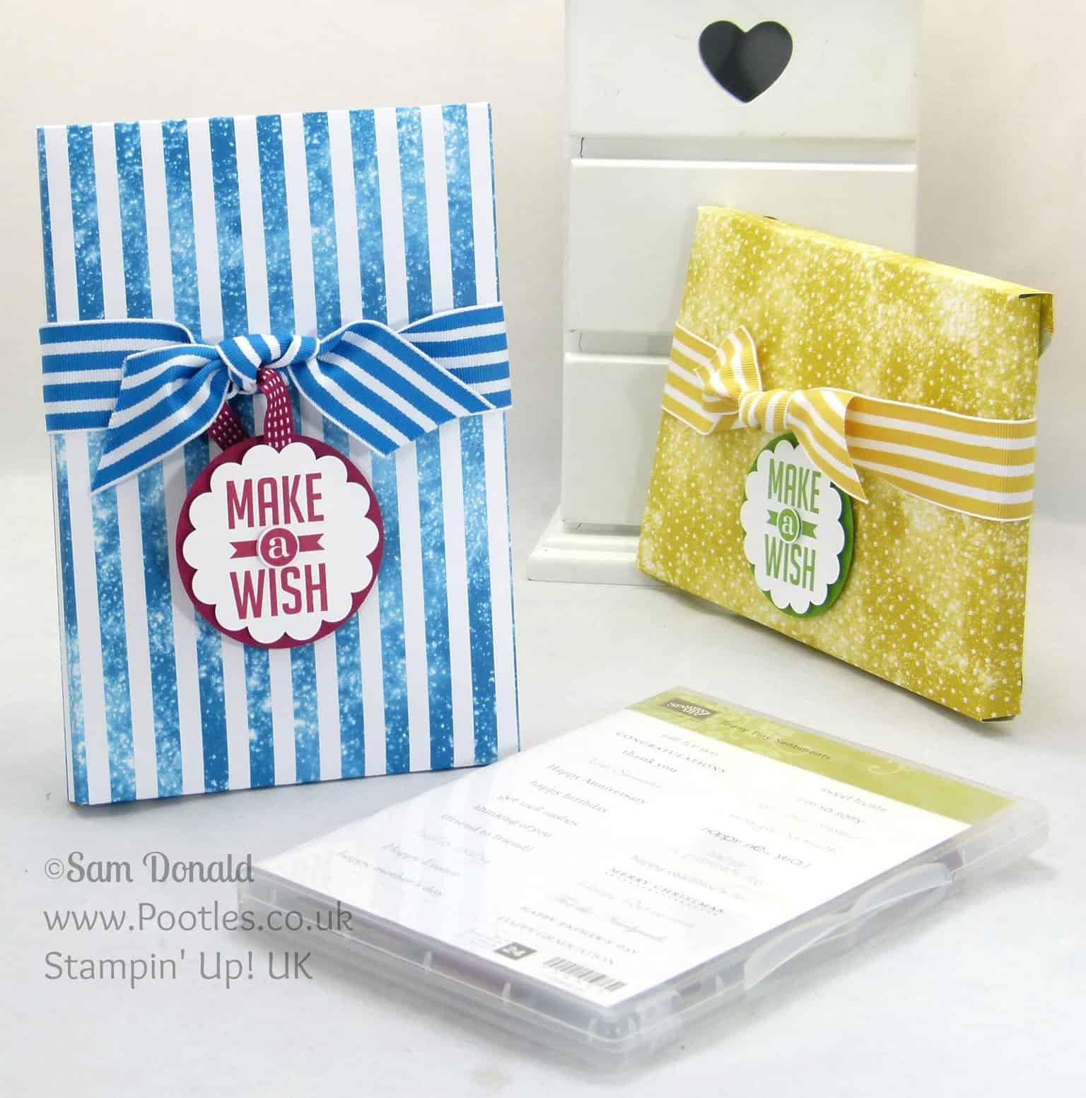 POOTLES Envelope Punch Board Stamp Set DVD Wrap Tutorial