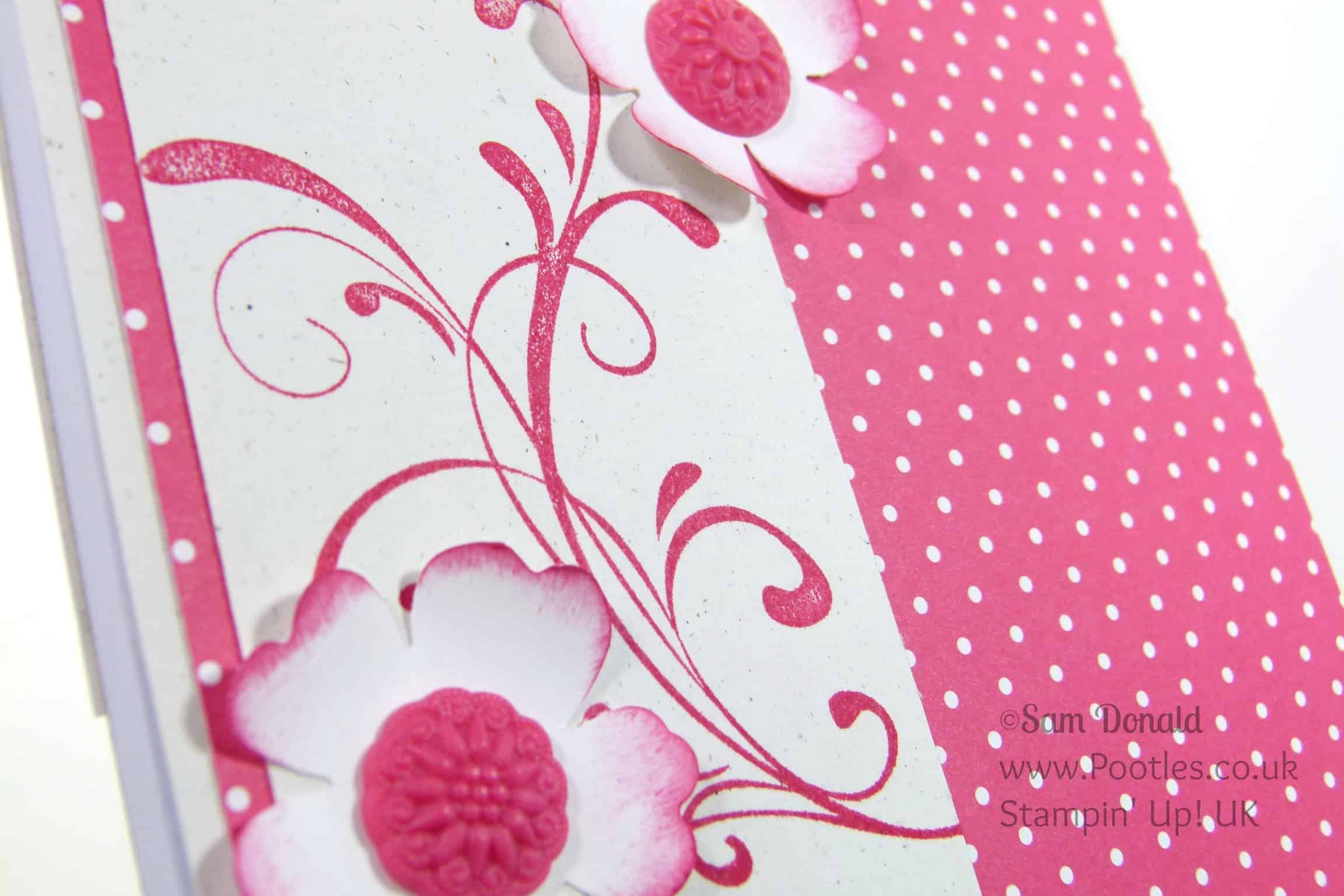 Pootles - Gifts for my new Stampin' Up! UK Demonstrators! Floral Detail