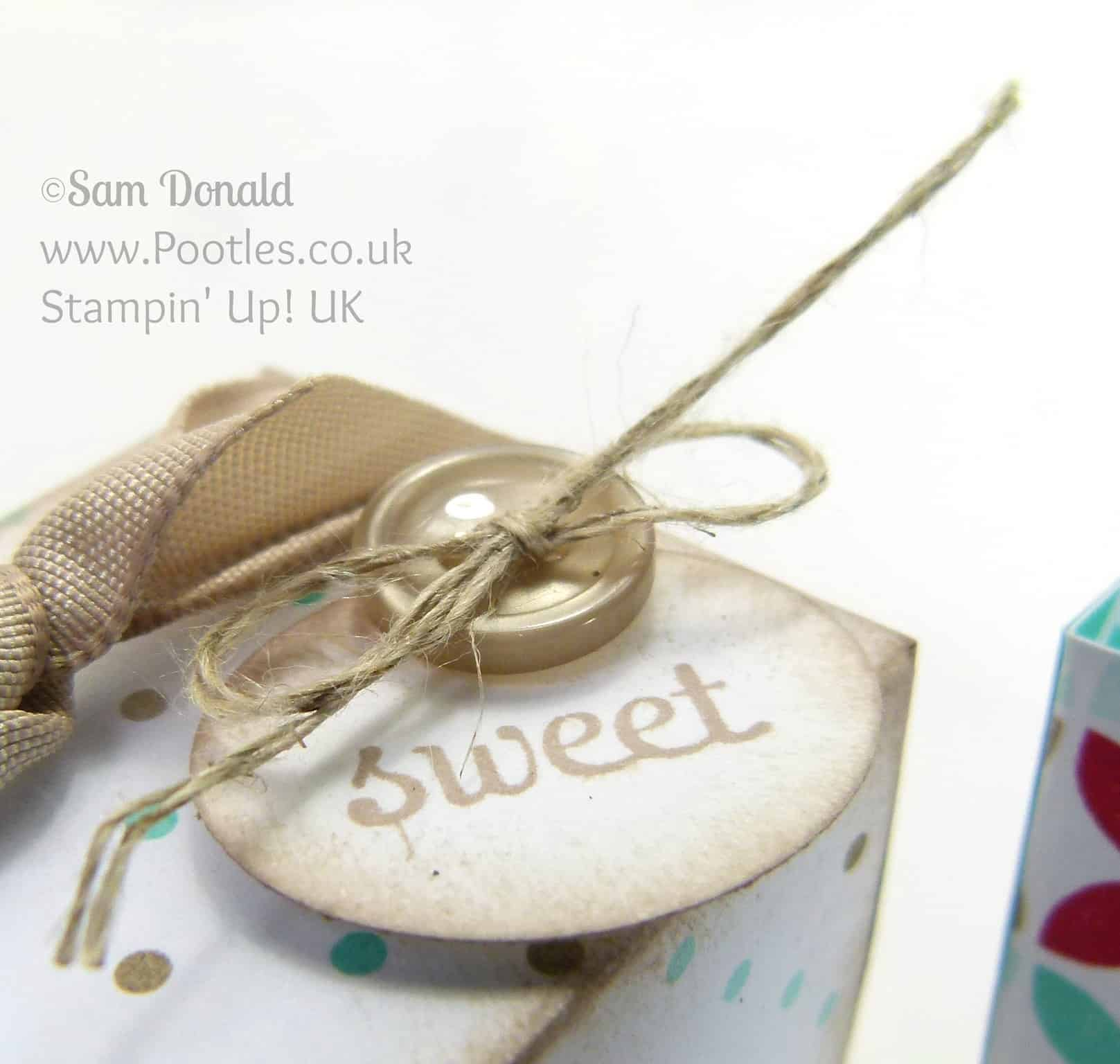 POOTLES Stampin' Up! UK Adorable Mini Box Tutorial Label Detail