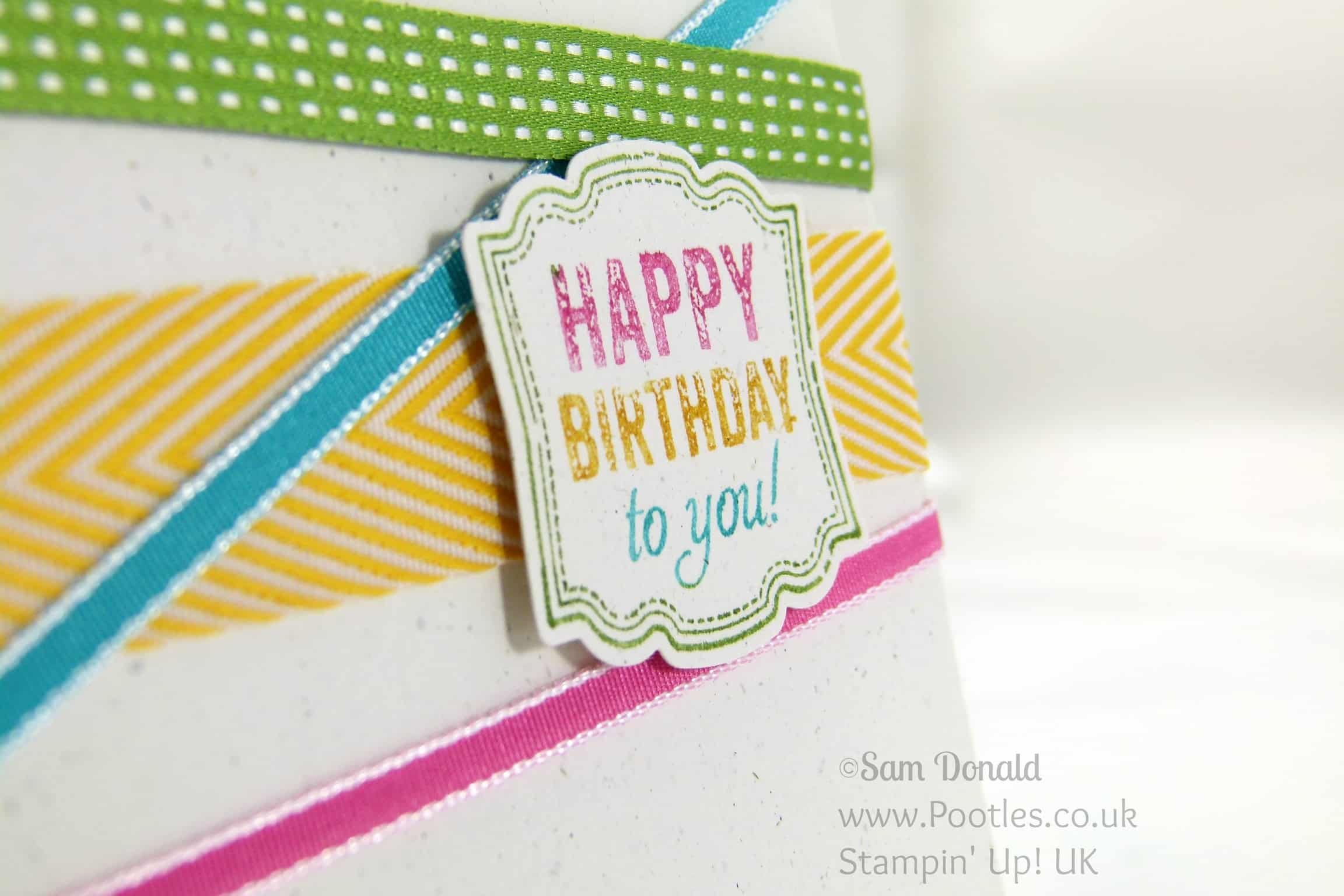 POOTLES Stampin' Up! UK Around the World Stampin' Up! Challenge Blog AW15 Marker Detail