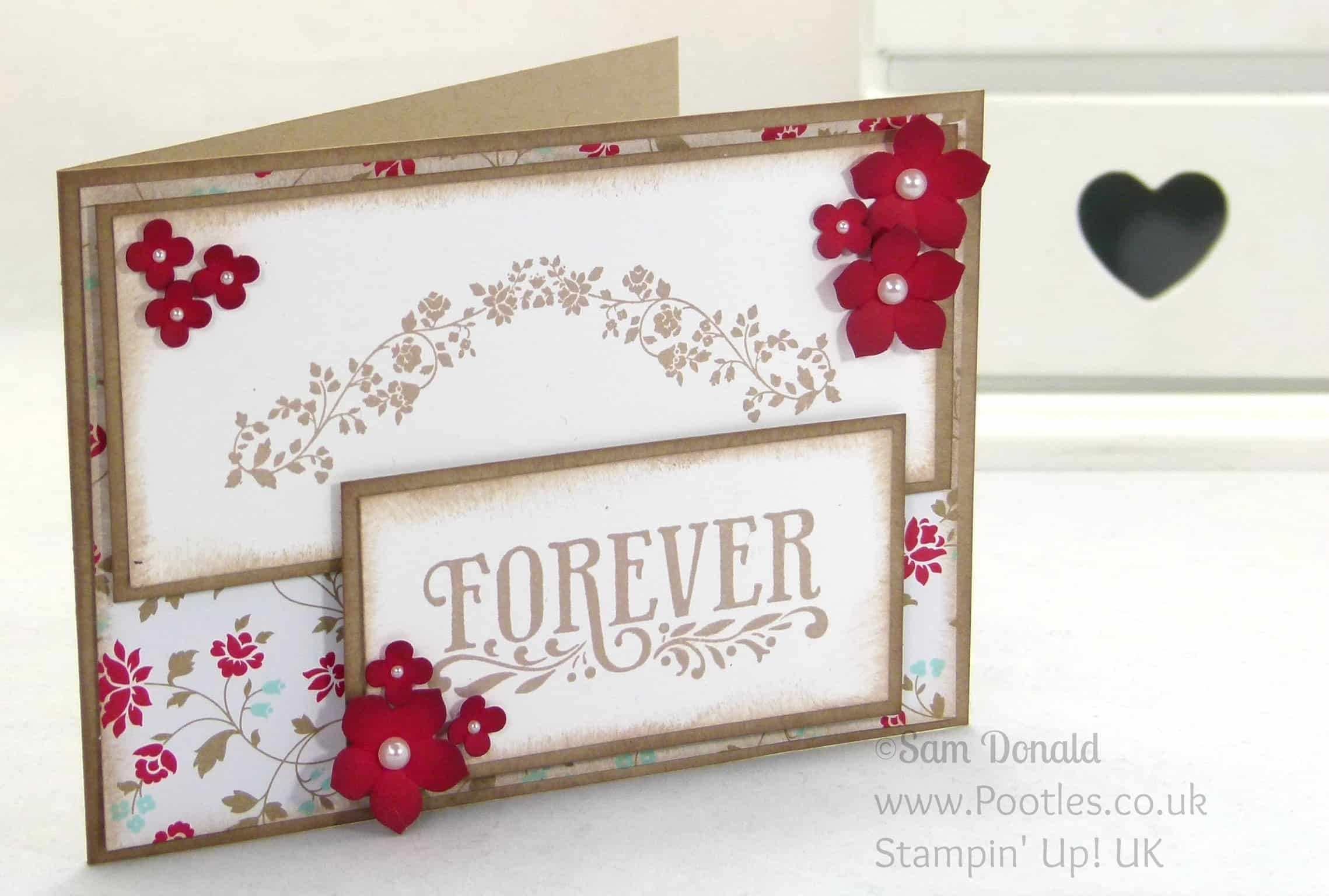 POOTLES Stampin' Up! UK Forever With You Matches Fresh Prints! Who Knew!