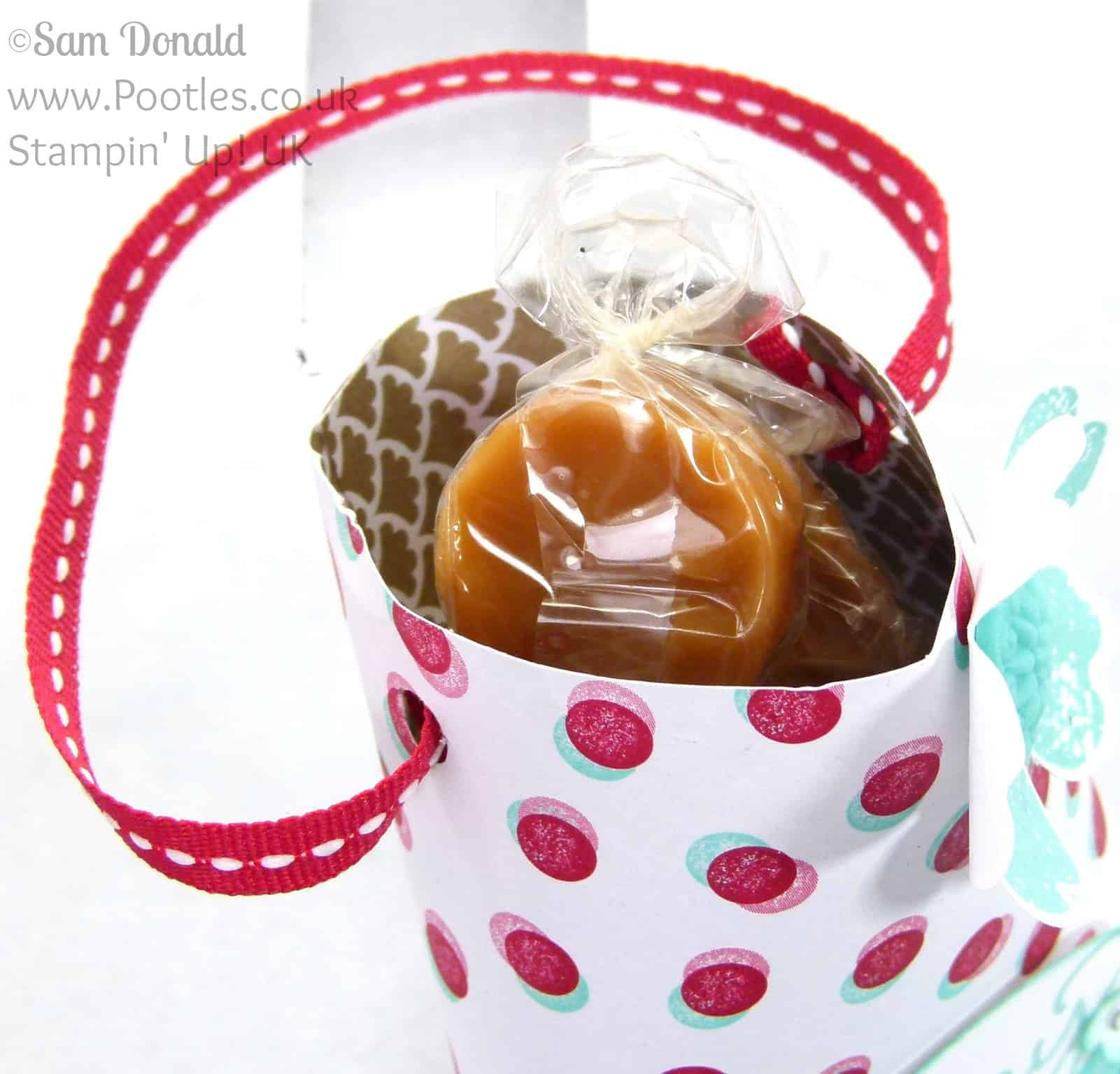 POOTLES Stampin' Up! UK Hanging Treat Pouch Overhead