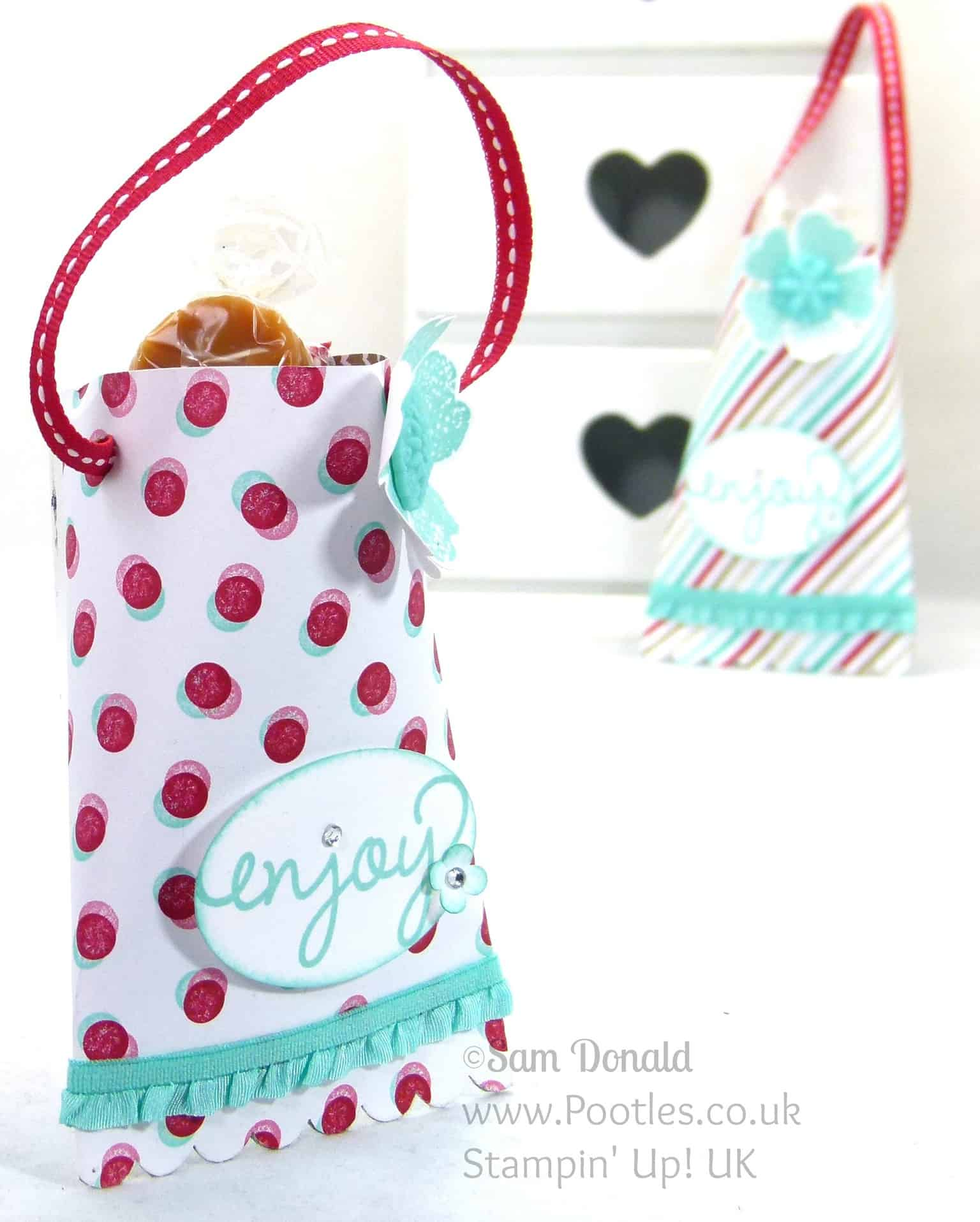 POOTLES Stampin' Up! UK Hanging Treat Pouch Video Tutorial