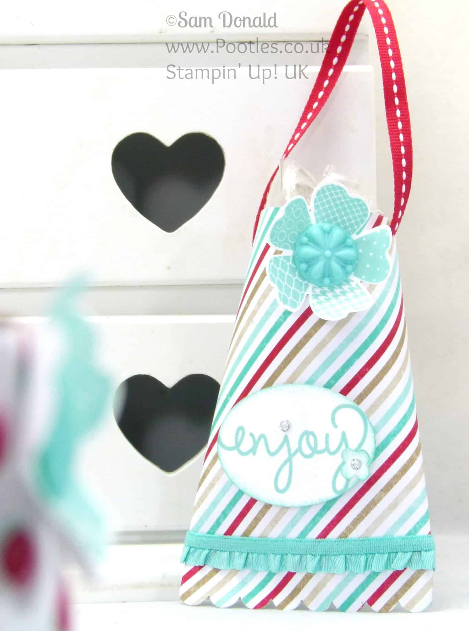 POOTLES Stampin' Up! UK Hanging Treat Pouch