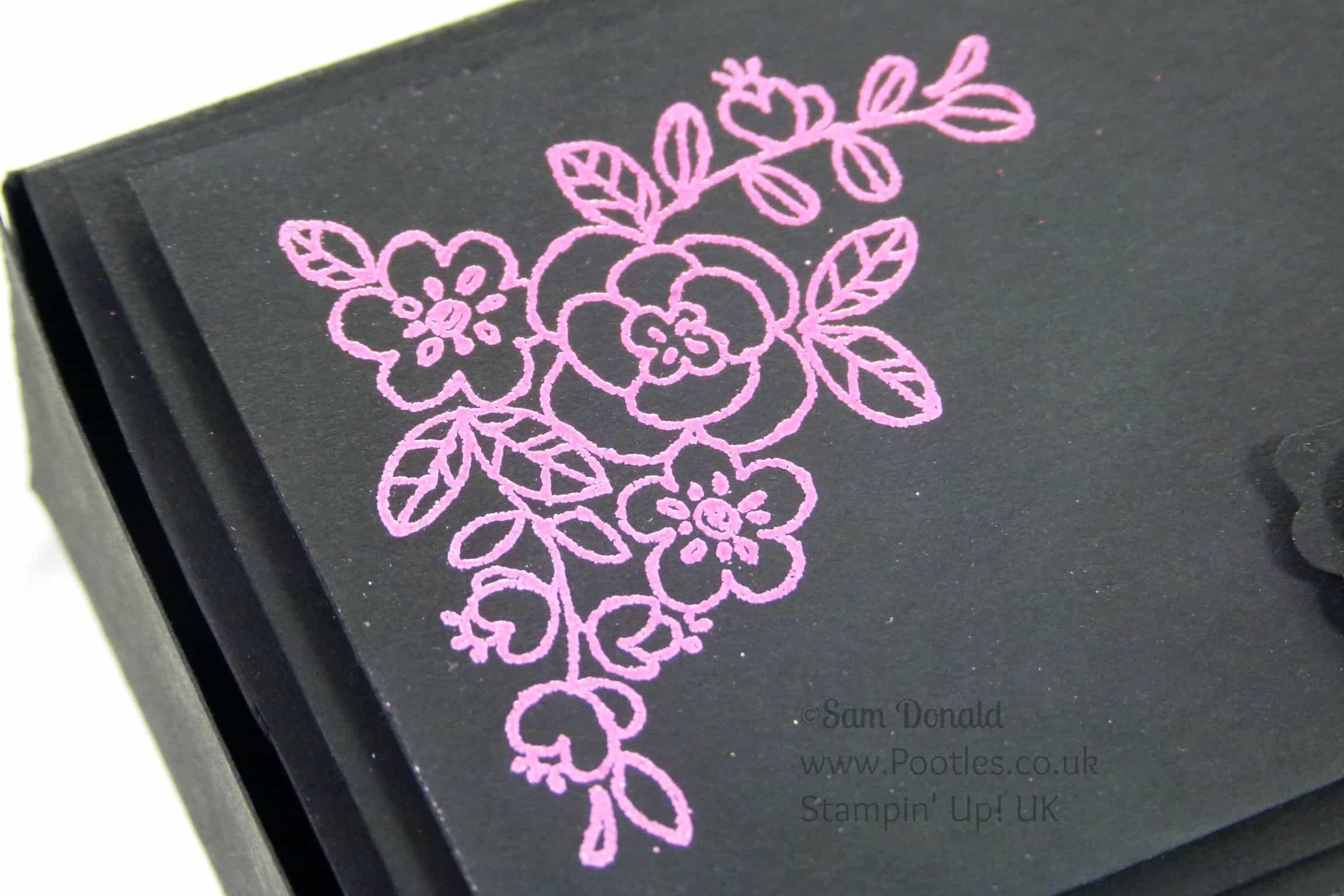 POOTLES Stampin' Up! UK Independent Demonstrator - Heat Embossed Stylish Box Tutorial using Stampin' Up! supplies Embossing Detail