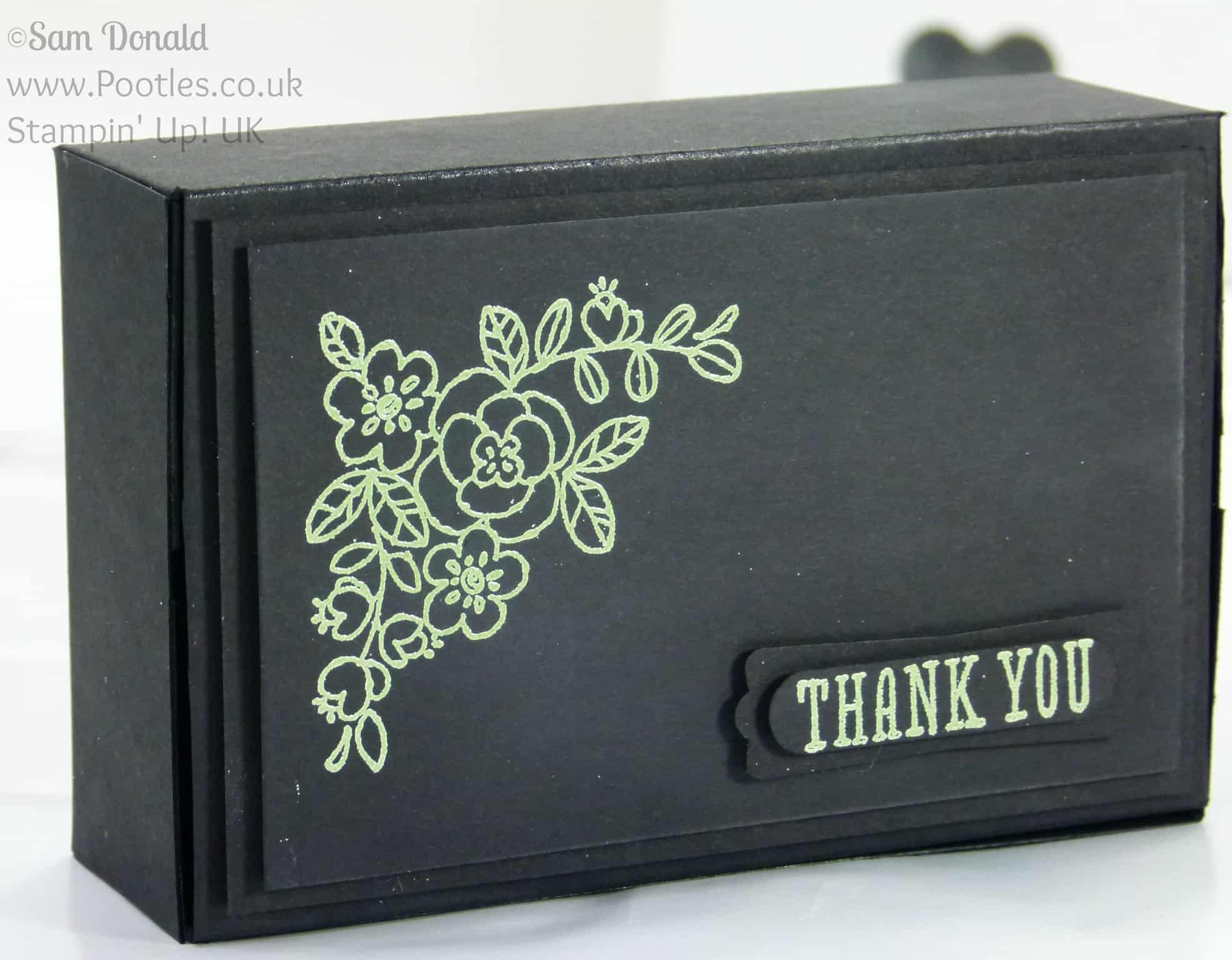 POOTLES Stampin' Up! UK Independent Demonstrator - Heat Embossed Stylish Box Tutorial using Stampin' Up! supplies Wild Wasabit