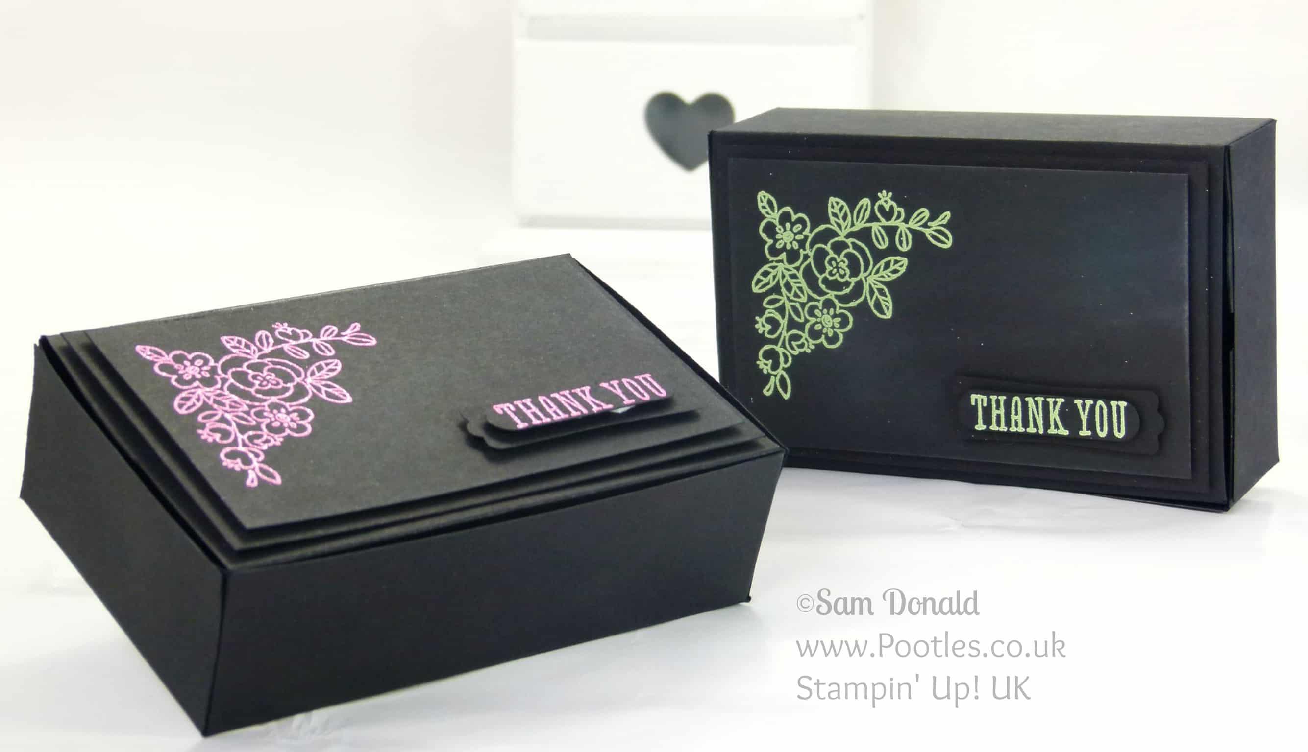 POOTLES Stampin' Up! UK Independent Demonstrator - Heat Embossed Stylish Box Tutorial using Stampin' Up! supplies