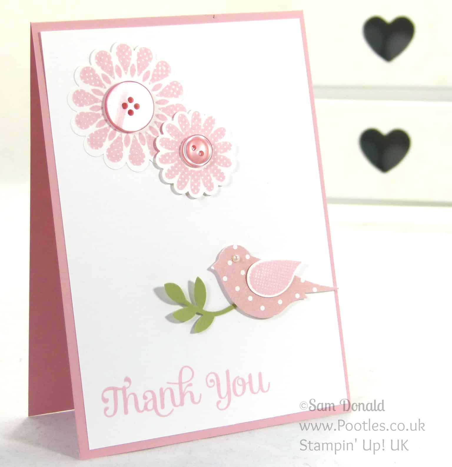 POOTLES Stampin' Up! UK Polka Dot Pieces Thank You Cards
