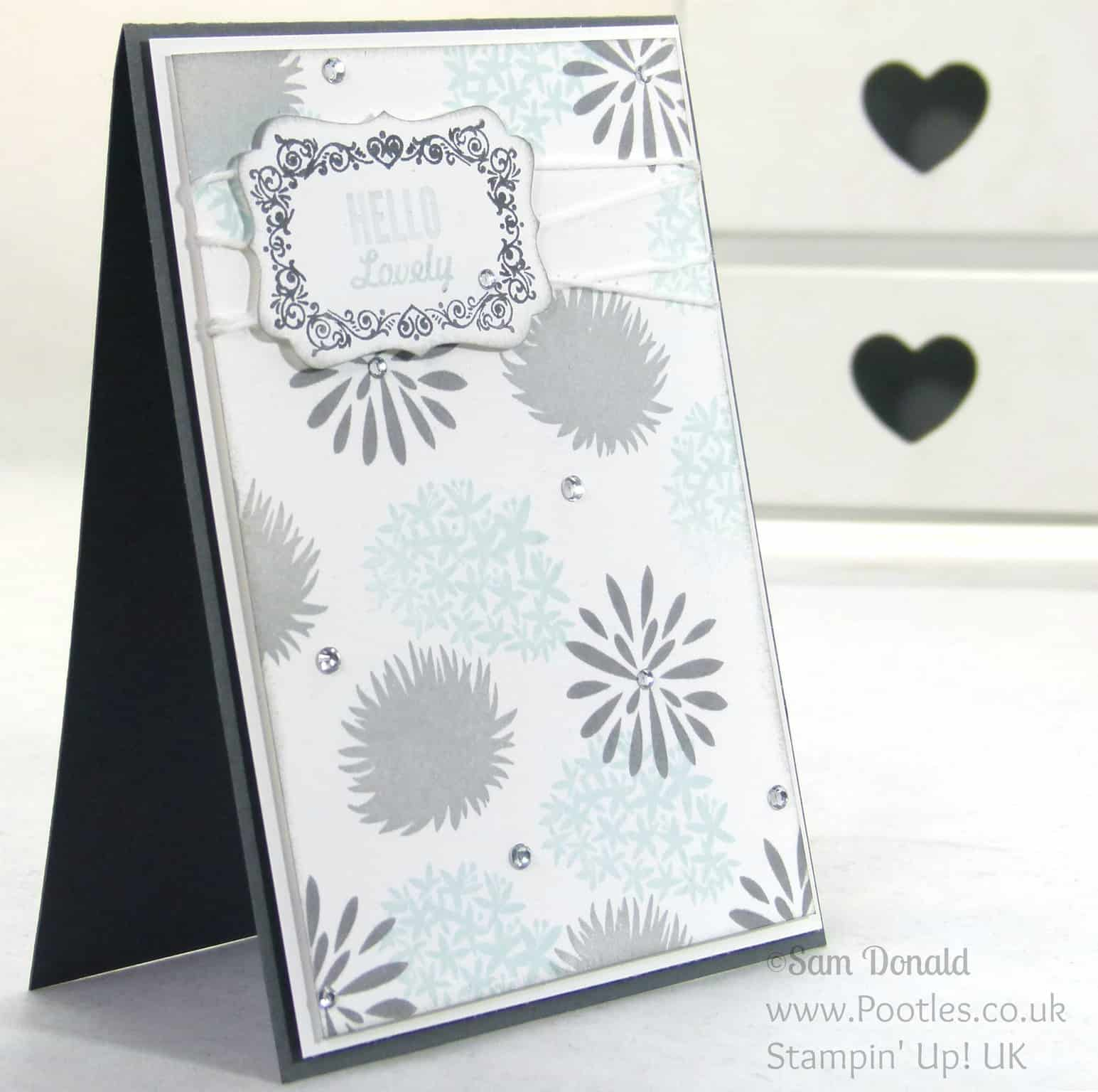 POOTLES Stampin up Uk Simple Stems. Soft and Gentle Card