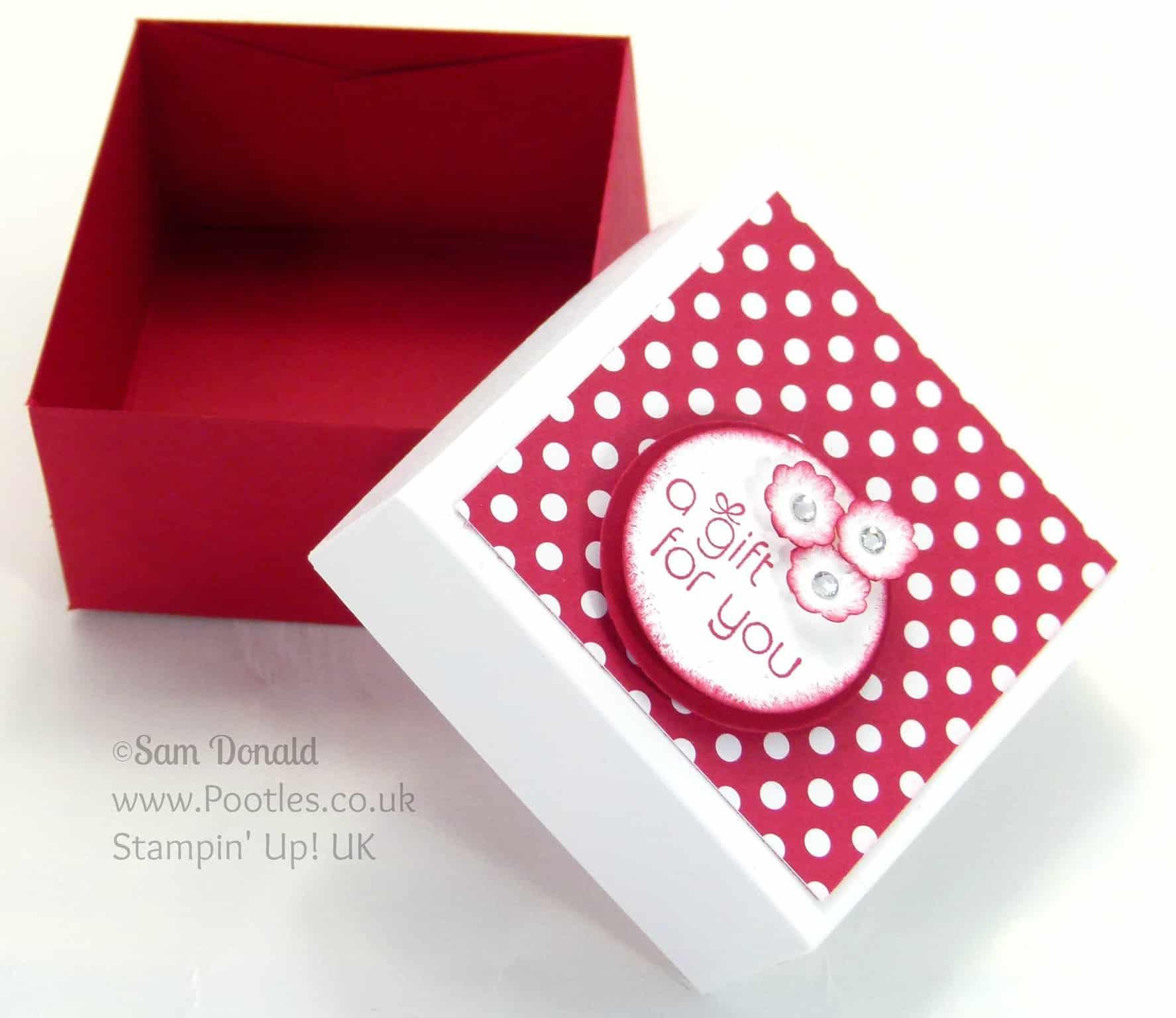 POOTLES Stampin' Up! UK The Spotty Box +Bonus Customer Gift Open