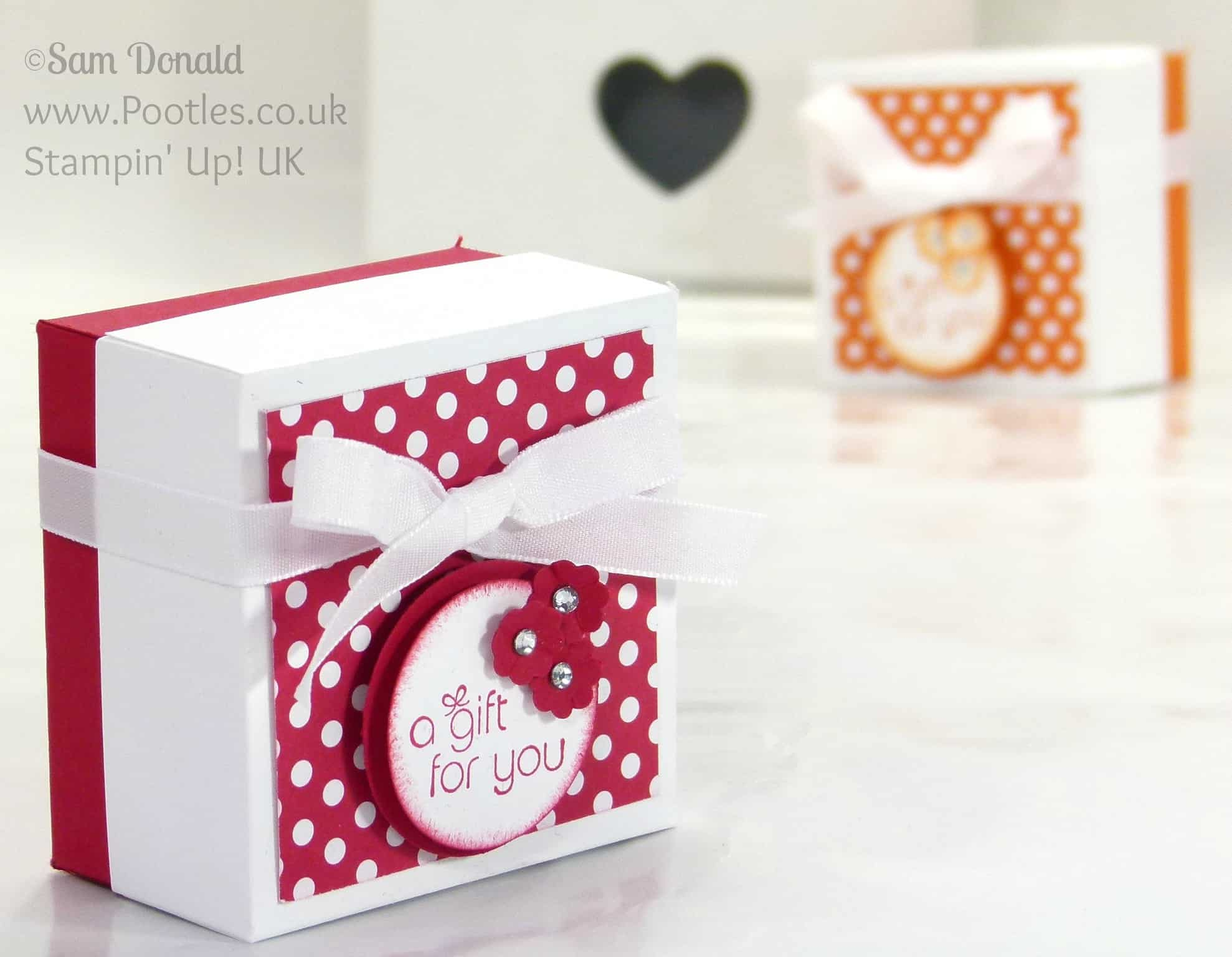 POOTLES Stampin' Up! UK The Spotty Box +Bonus Customer Gift
