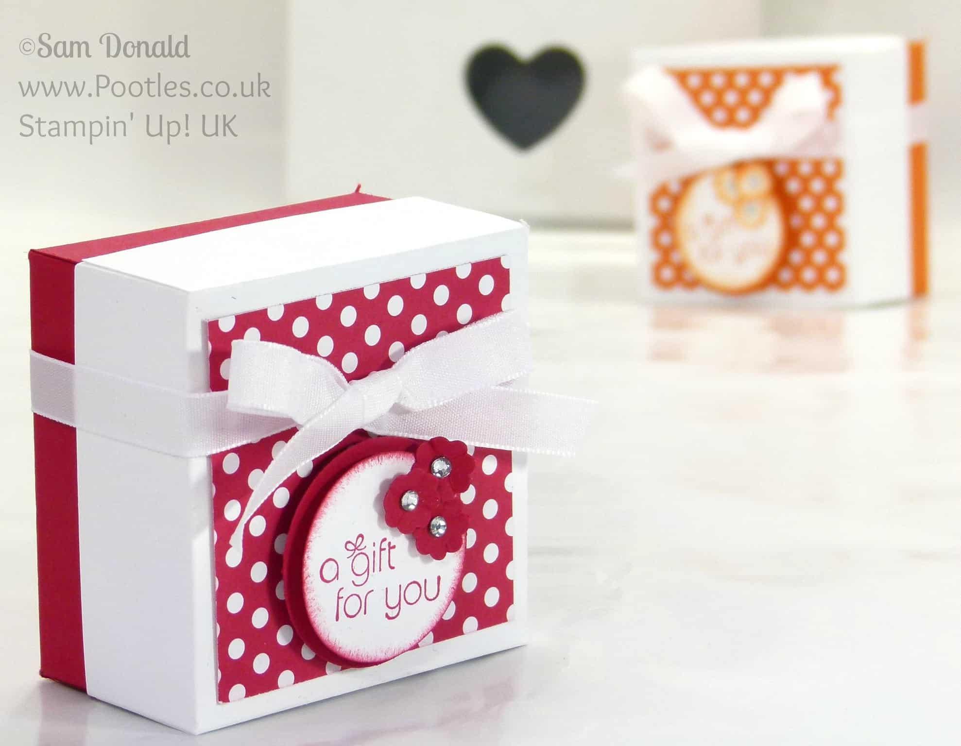 POOTLES Stampin' Up! UK The Spotty Box +Bonus Customer Gift