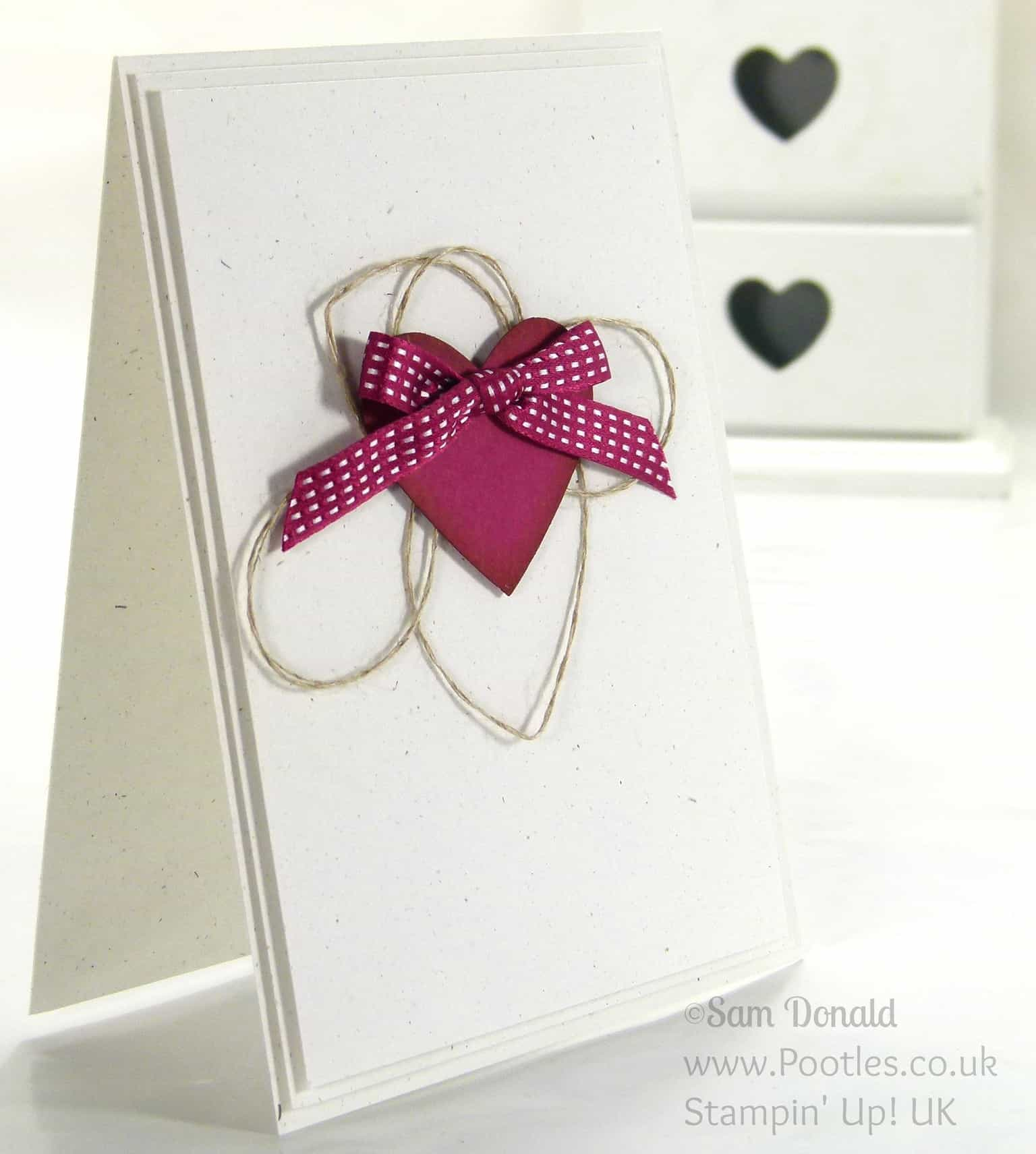 Stampin' Up! UK Independent Demonstrator Pootles. A Simple But Full Heart