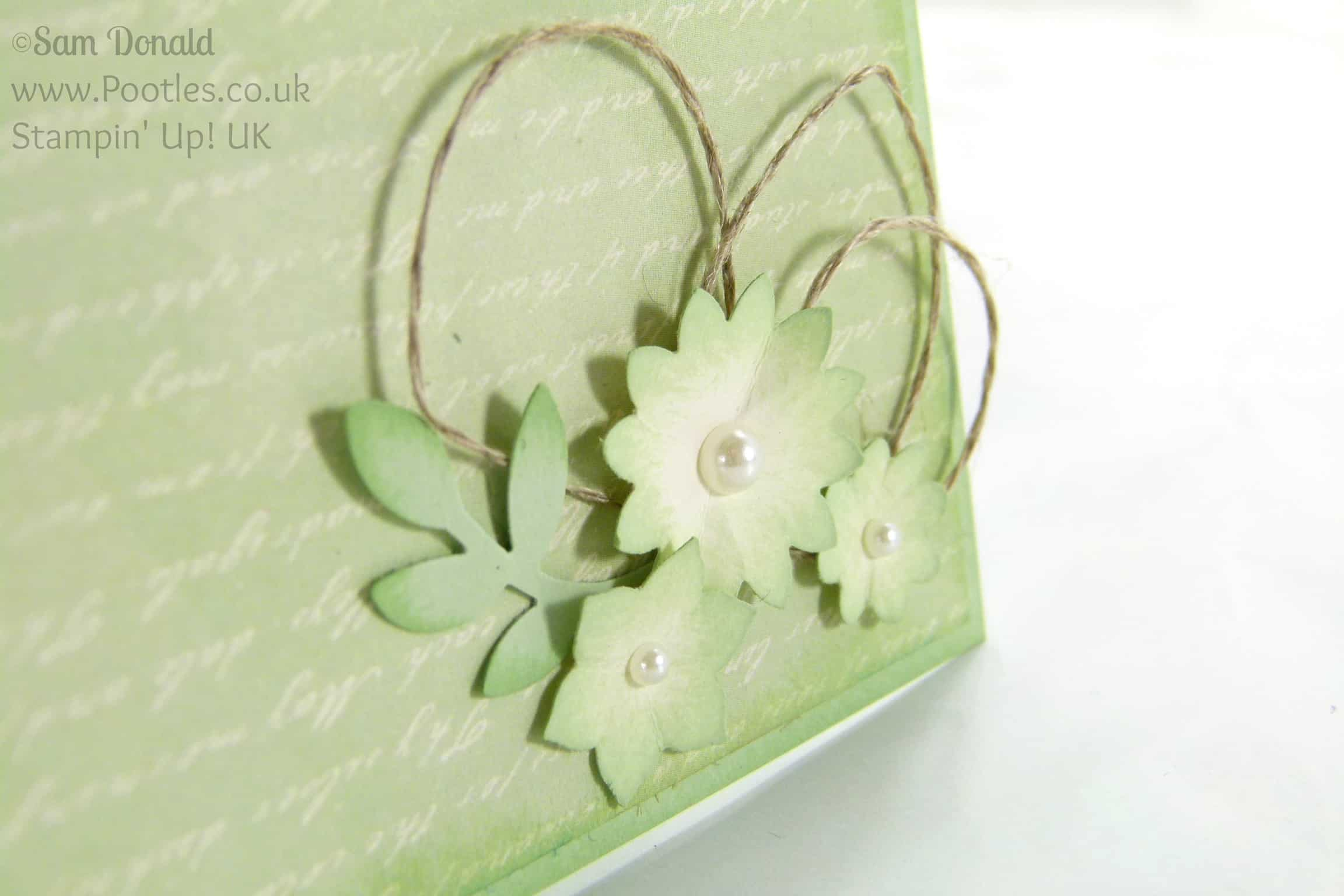 Stampin' Up! UK Independent Demonstrator Pootles. A Very Vintage Venetian Romance. Upside Down... Boho Blossoms Detail