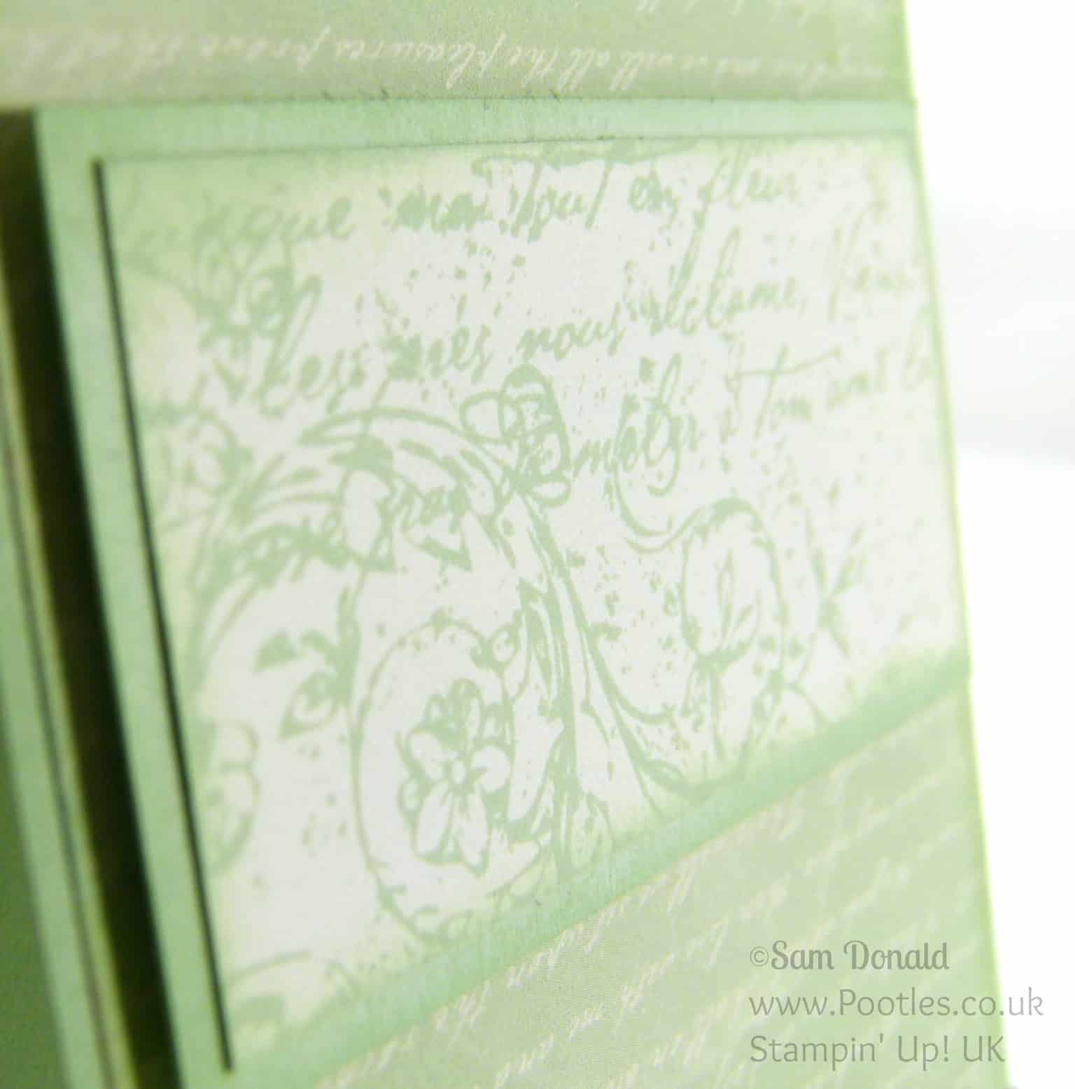 Stampin' Up! UK Independent Demonstrator Pootles. A Very Vintage Venetian Romance. Upside Down... Detail