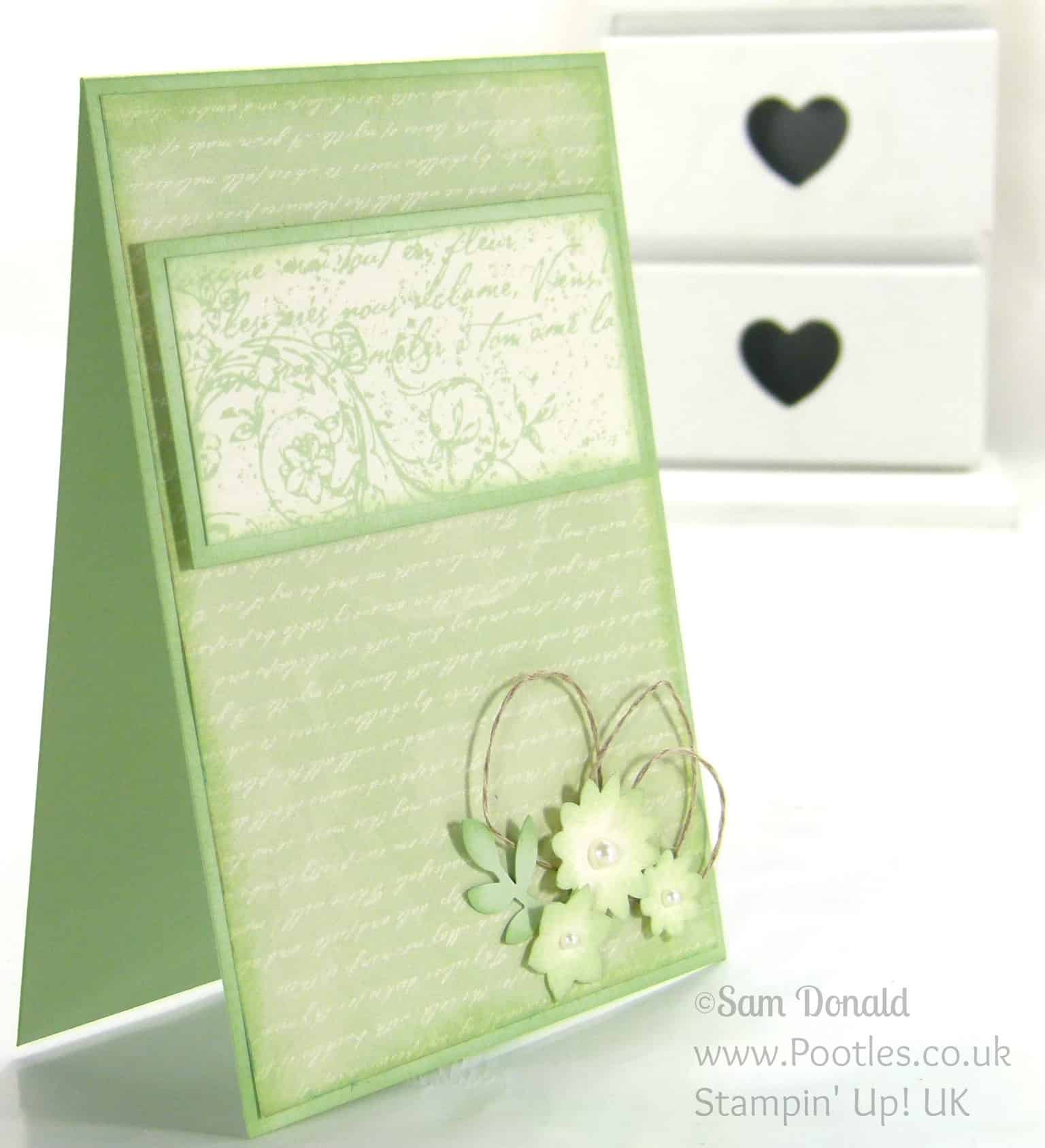Stampin' Up! UK Independent Demonstrator Pootles. A Very Vintage Venetian Romance. Upside Down...