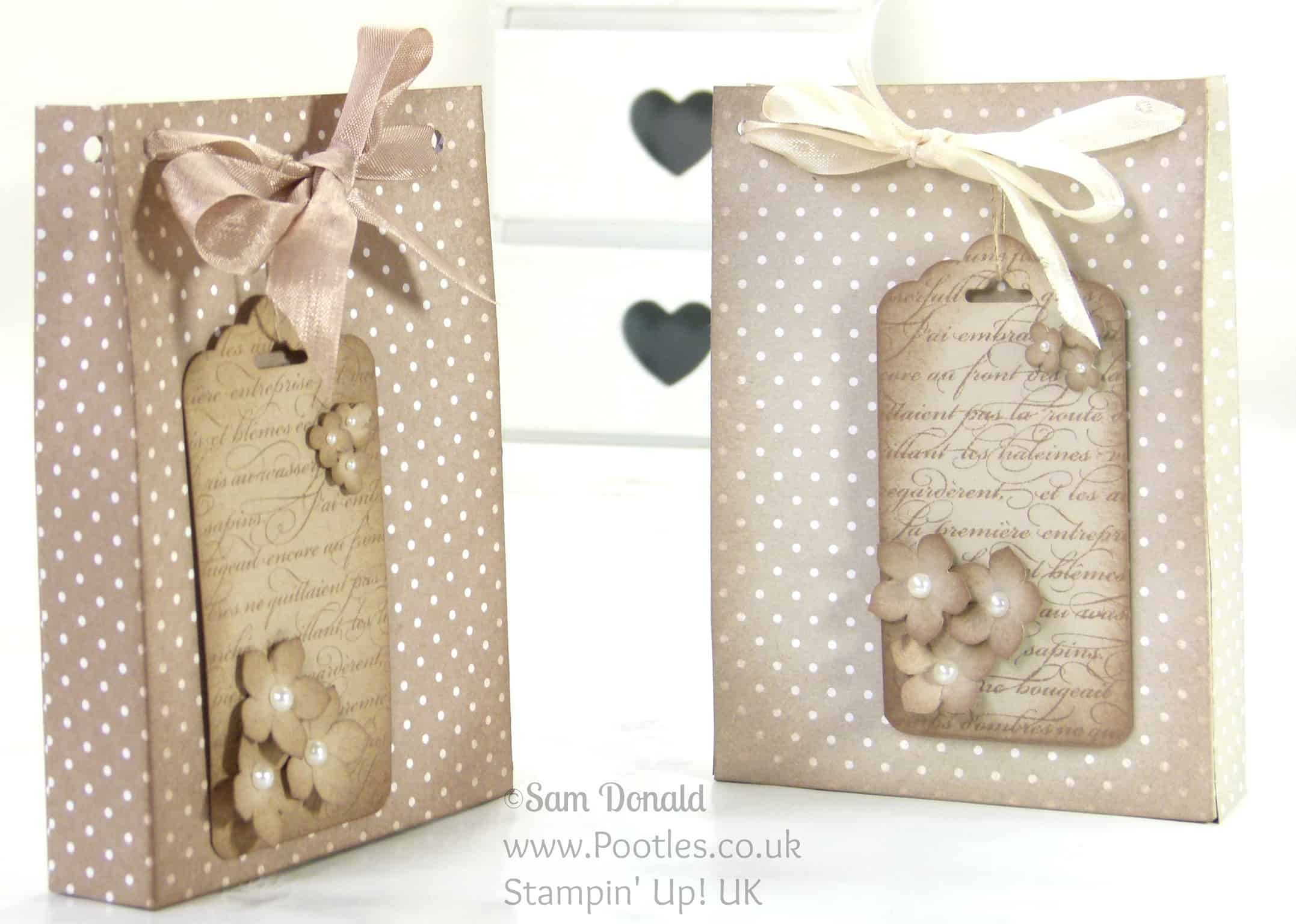 Stampin' Up! UK Independent Demonstrator Pootles. Aged Paper Bag Tutorial using Stampin' Up Designer Series Paper