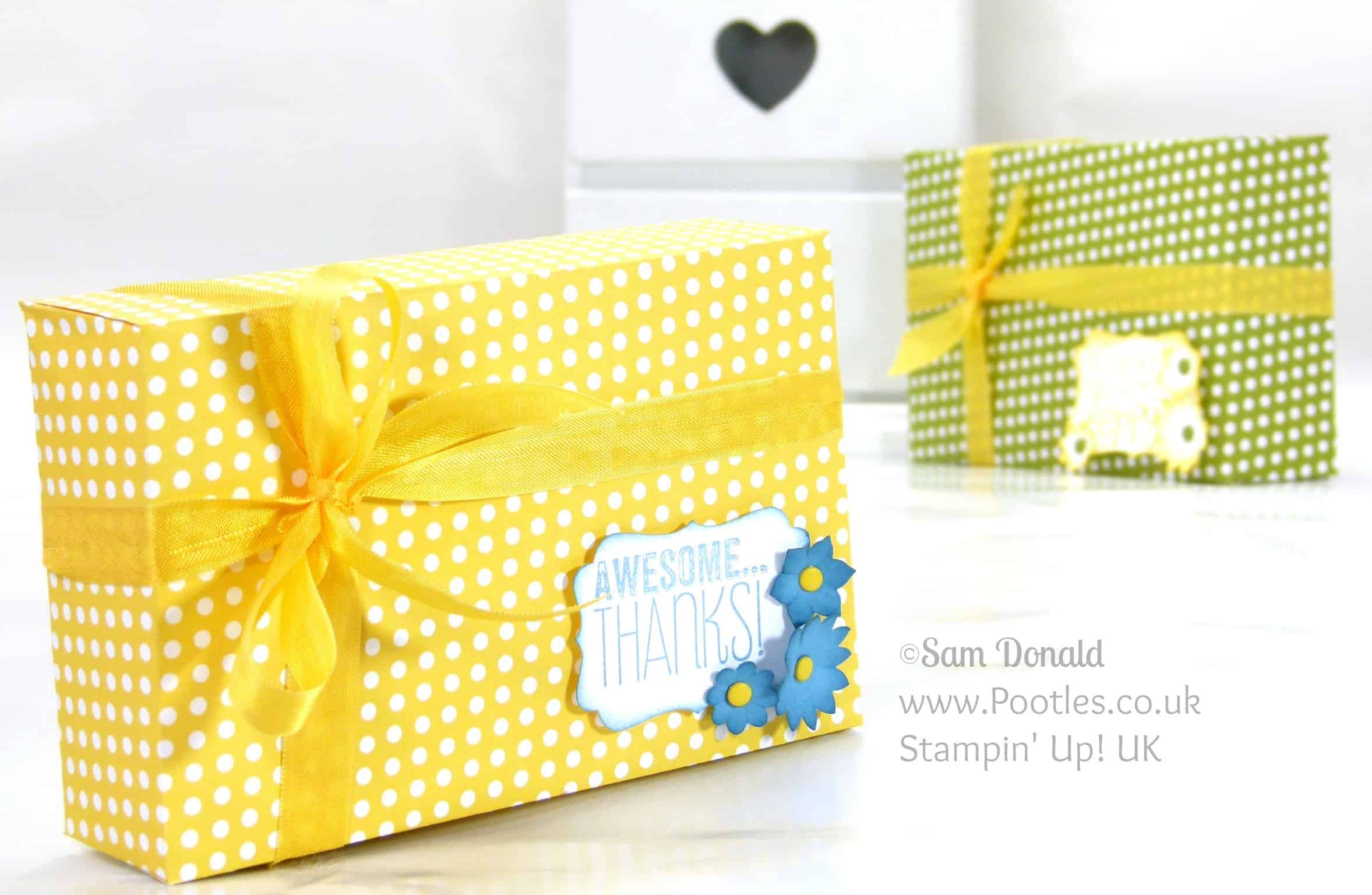 Stampin' Up! UK Independent Demonstrator Pootles. Envelope Punch Board Maltesers Box Tutorial