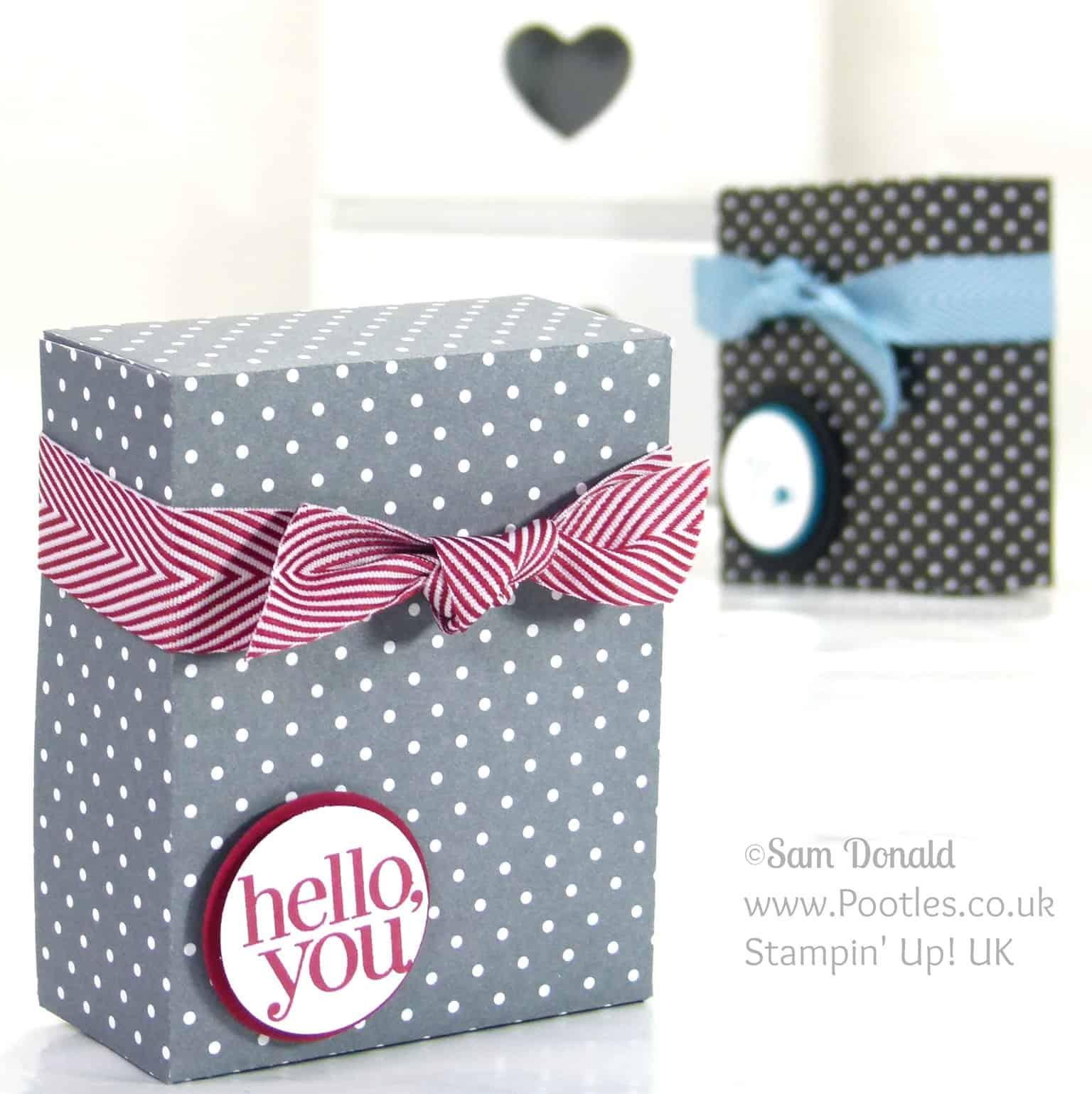 Stampin' Up! UK Independent Demonstrator Pootles. Paper Box Tutorial using Stampin' Up Designer Paper