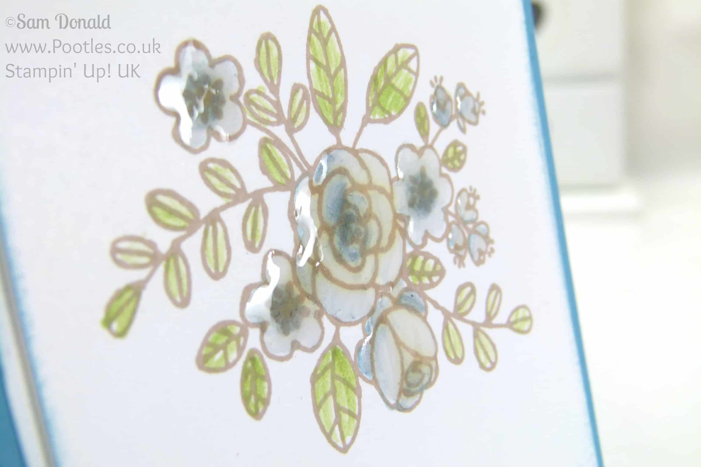 Stampin' Up! UK Independent Demonstrator Pootles. So Very Grateful for a Happy Day Crystal Effects Detail