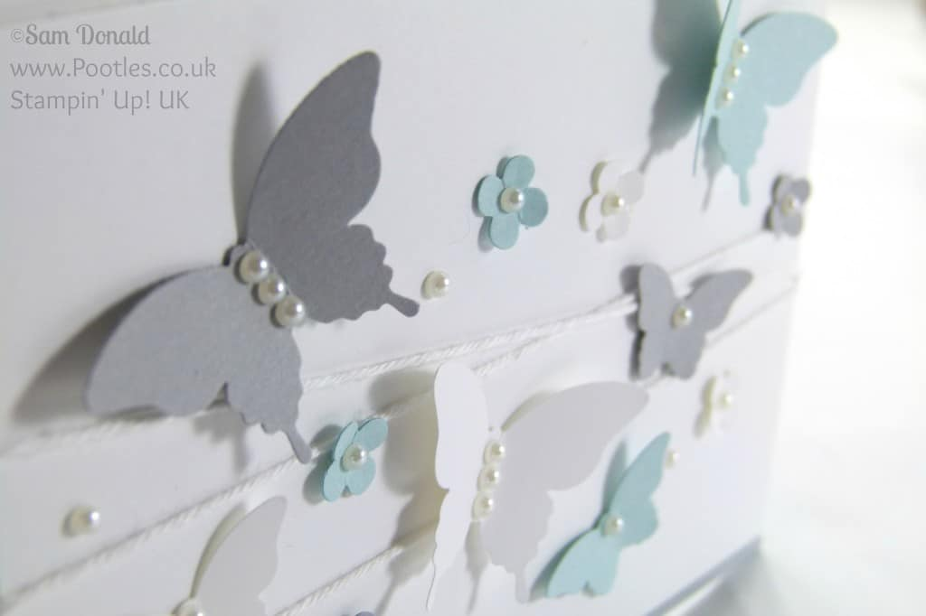Stampin' Up! UK Independent Demonstrator Pootles. Soft and Smoky Bitty Elegant Butterflies Close Up