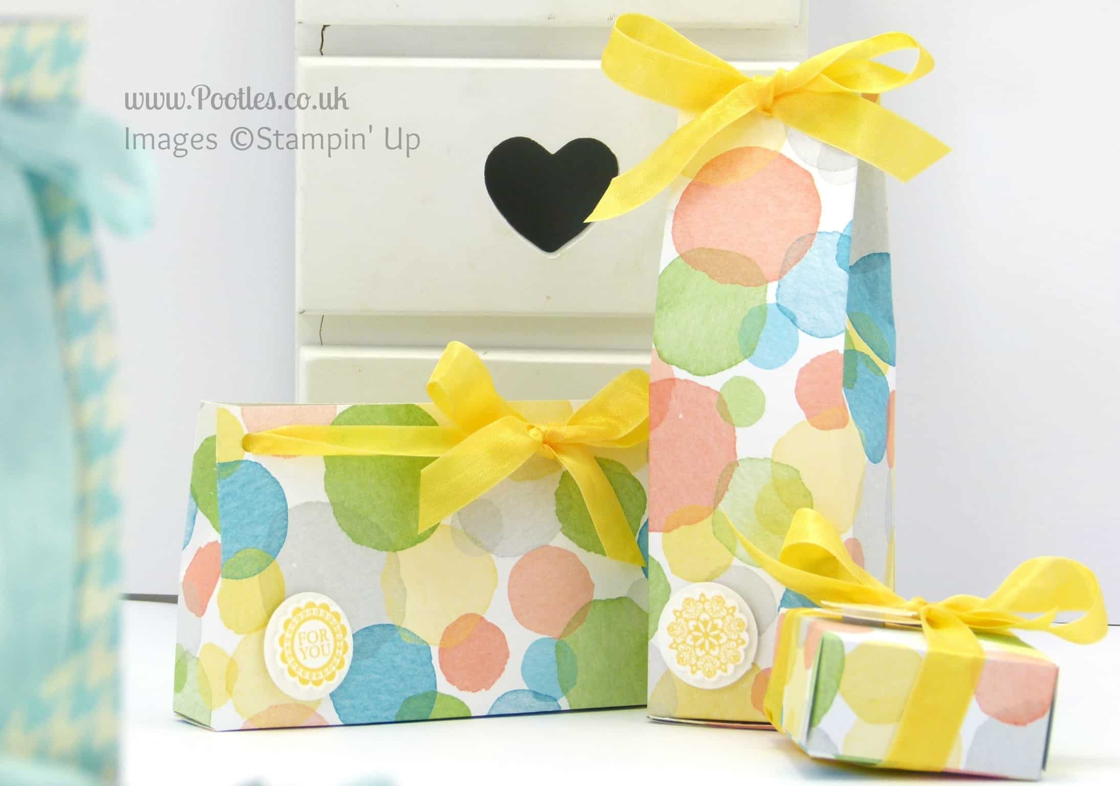 3 Bags from one sheet of Stampin' Up! UK Designer Series Paper (Tutorial!) Watercolour Wonder