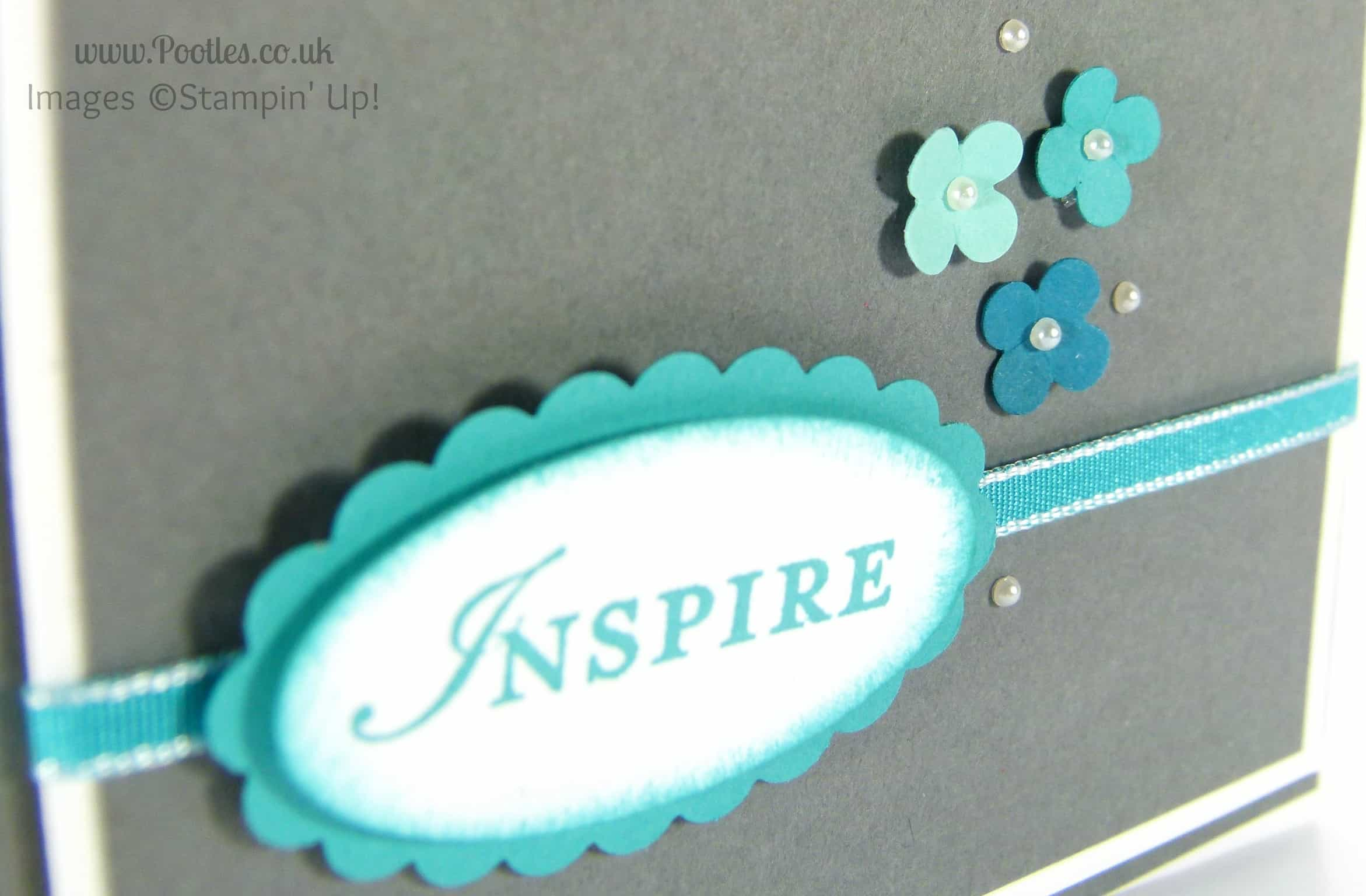 Inspired by Blue - a Card Made using Stampin' Up! UK products... Close Up (1)