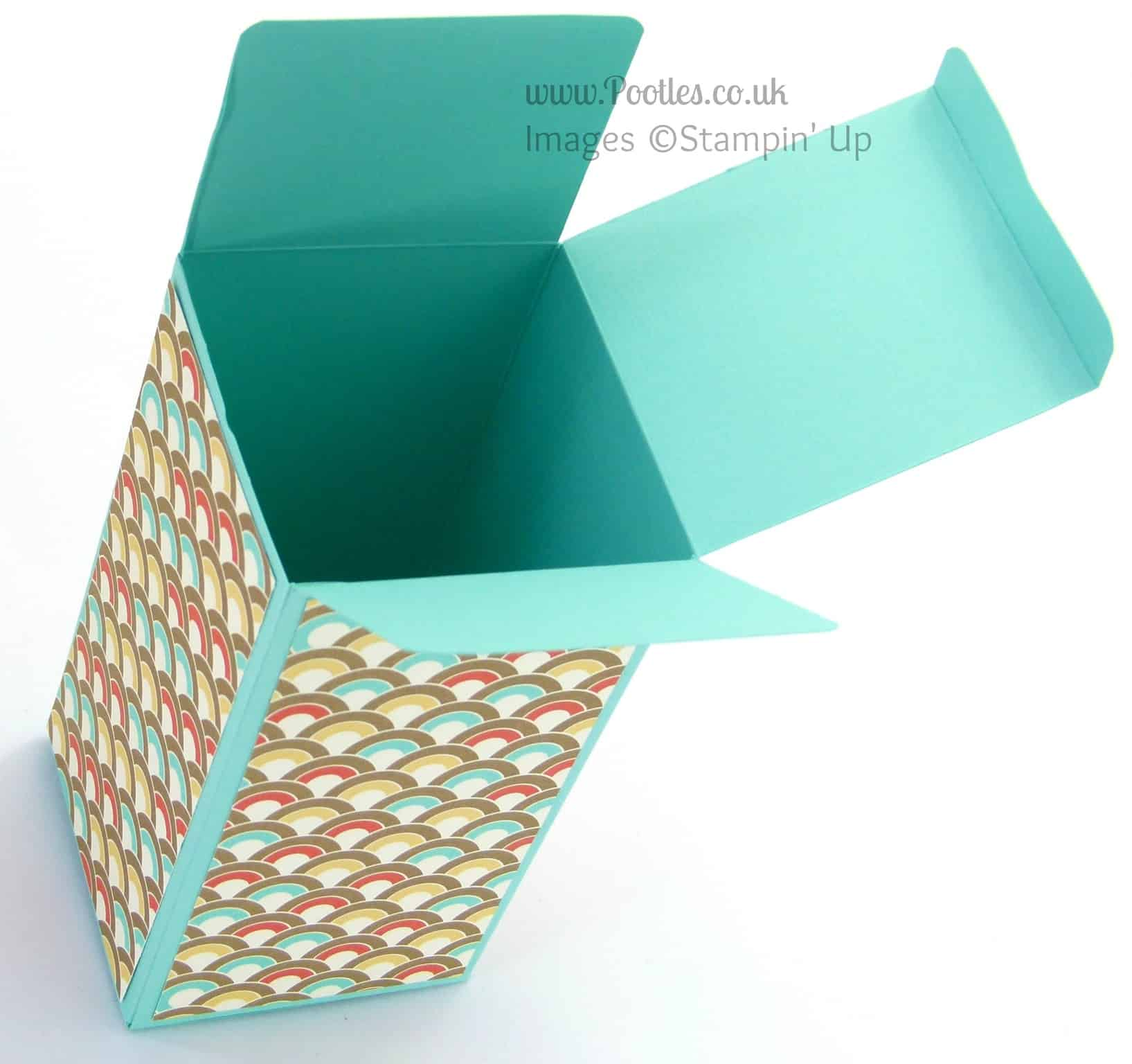 Large Box (a little manly!) using Stampin' Up! UK Retro Fresh DSP
