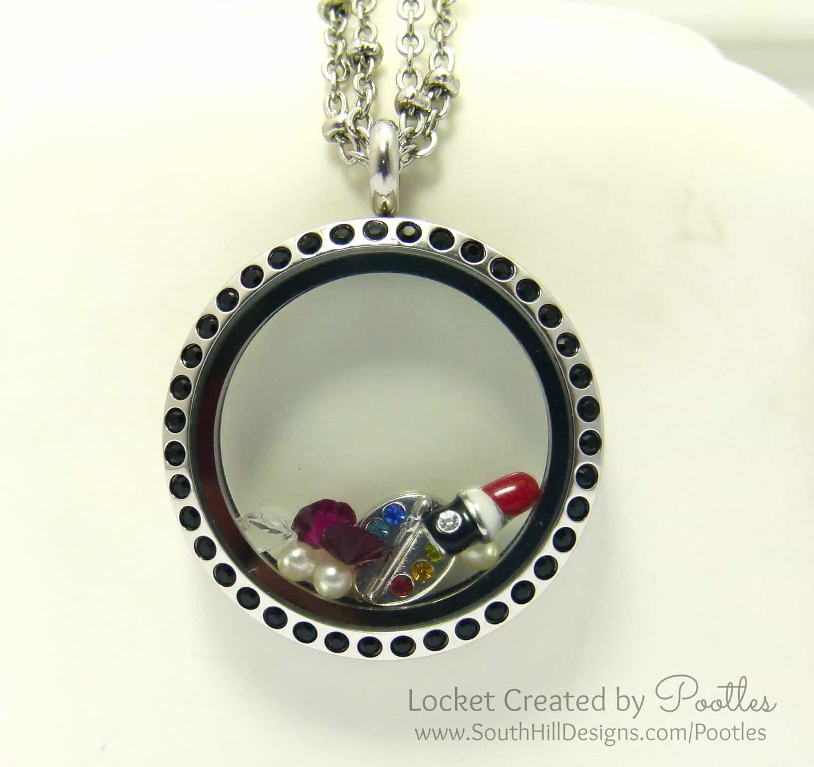 Makeup Artist's Locket from South Hill Designs Pootles Close Up