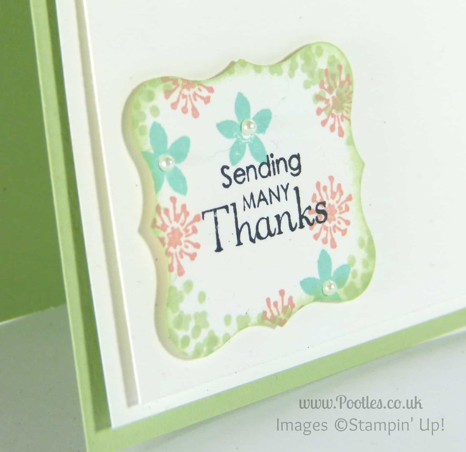 Background Stamped Punch Outs using ©Stampin' Up! Summer Sillhouettes