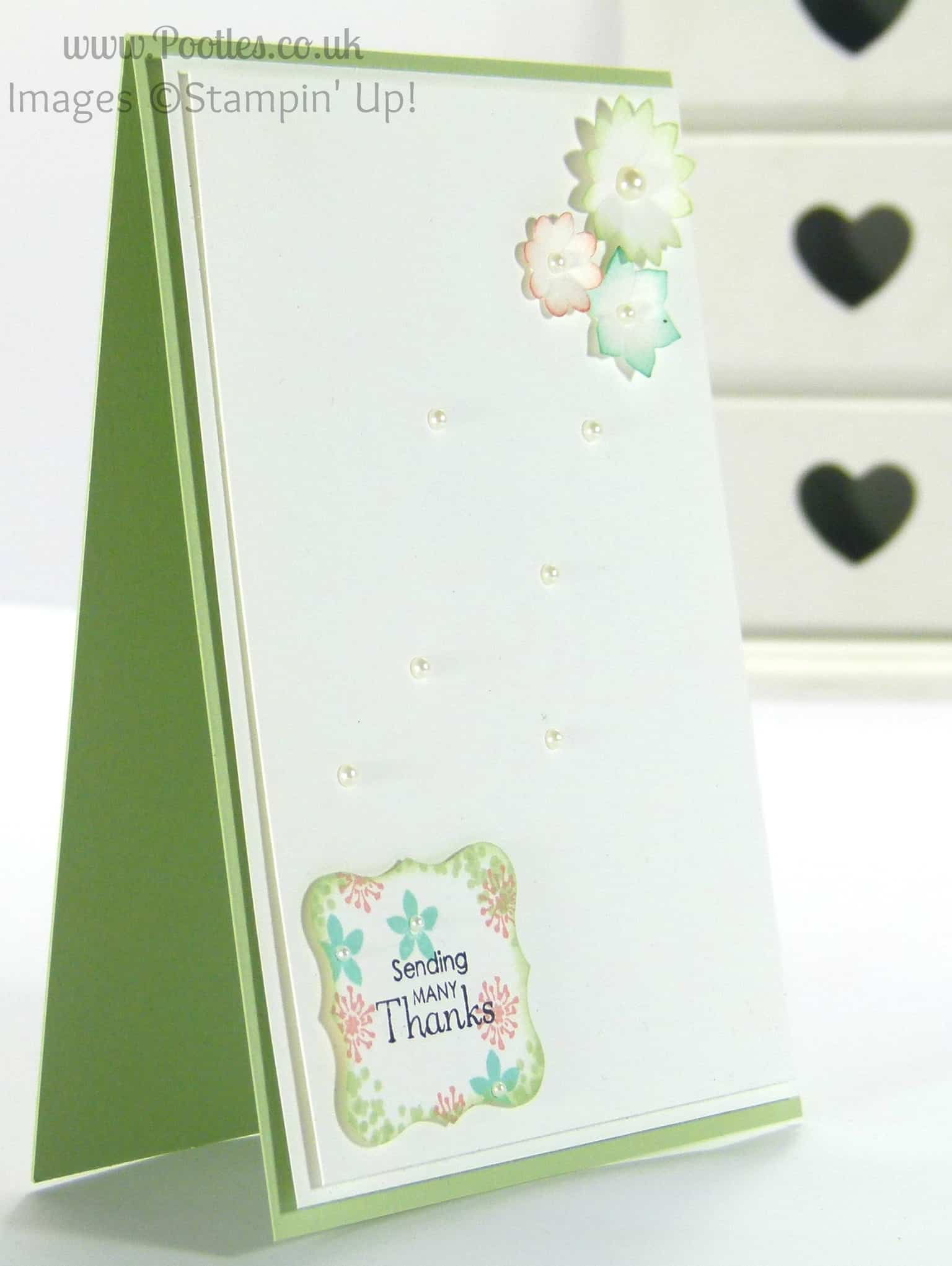 Stampin' Up! Demonstrator - Pootles. Background Stamped Punch Outs using ©Stampin' Up! Summer Sillhouettes