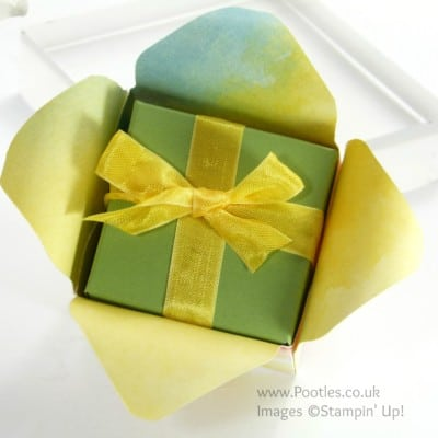 Adorable Envelope Punch Board Box in a Flower Tutorial