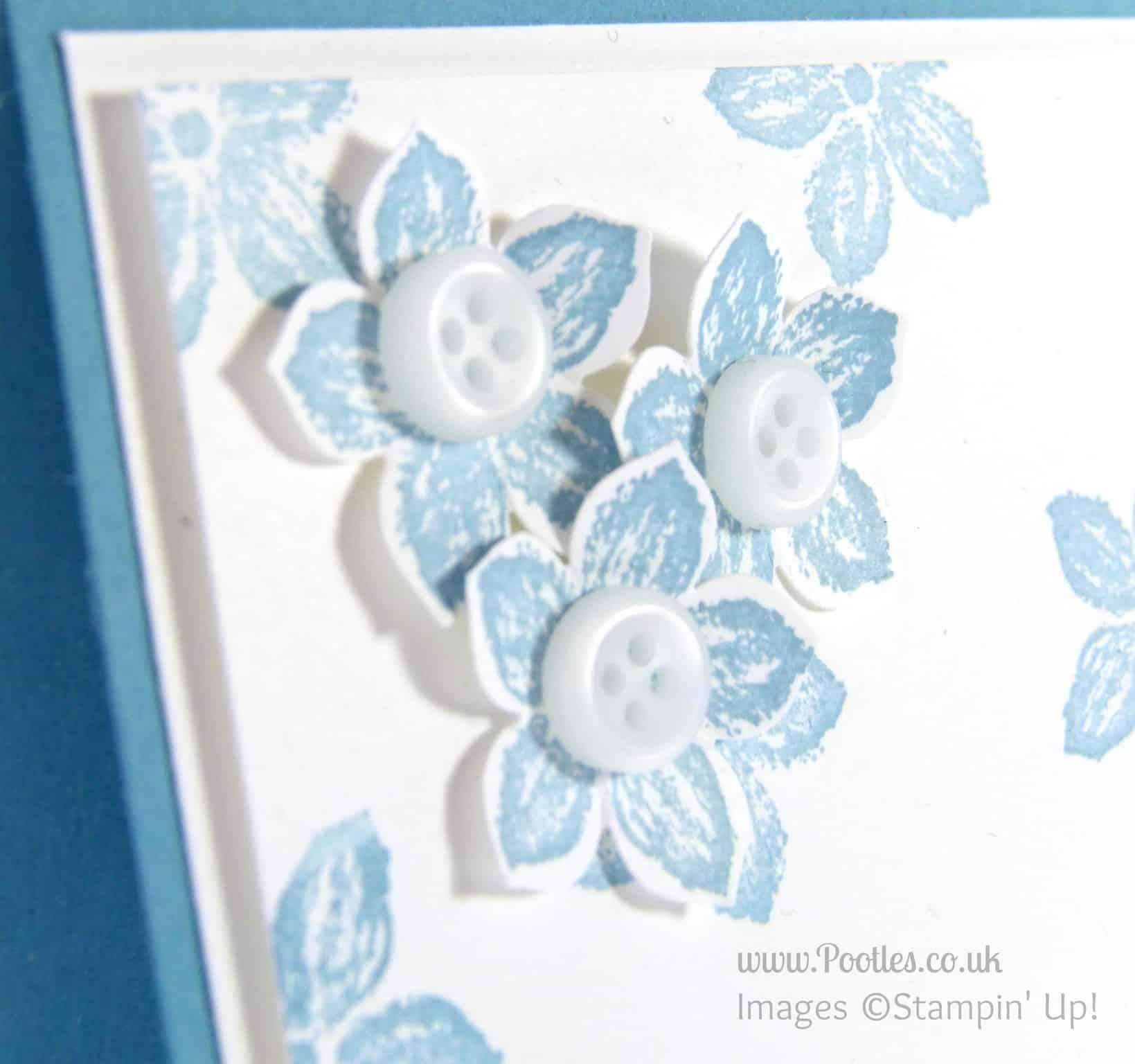 Stampin' Up! UK Independent Demonstrator - Pootles. Petite Sweet Baby Petals! Flower Detail