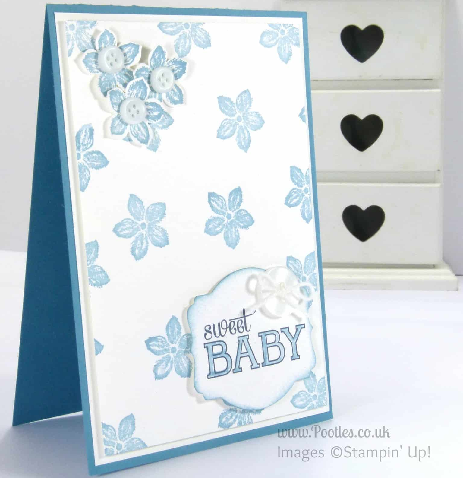 Stampin' Up! UK Independent Demonstrator - Pootles. Petite Sweet Baby Petals!